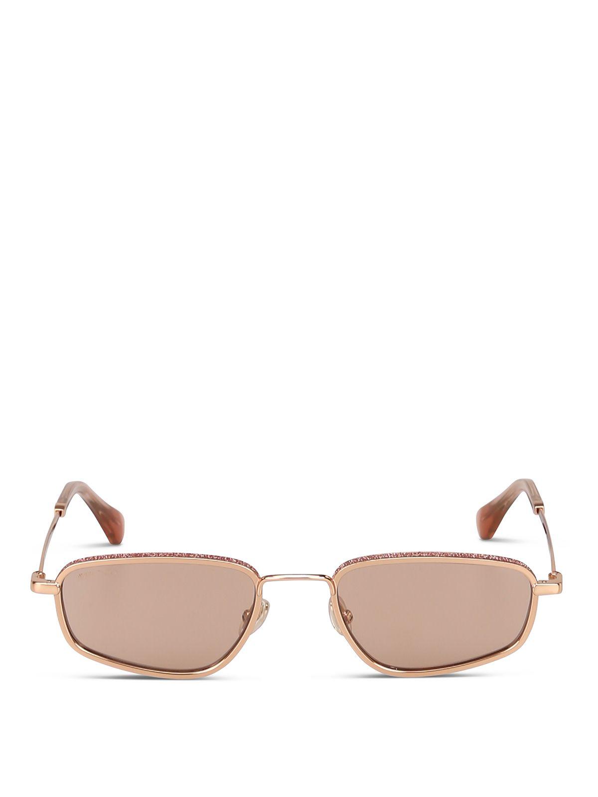 Jimmy Choo Gold Metal Sunglasses