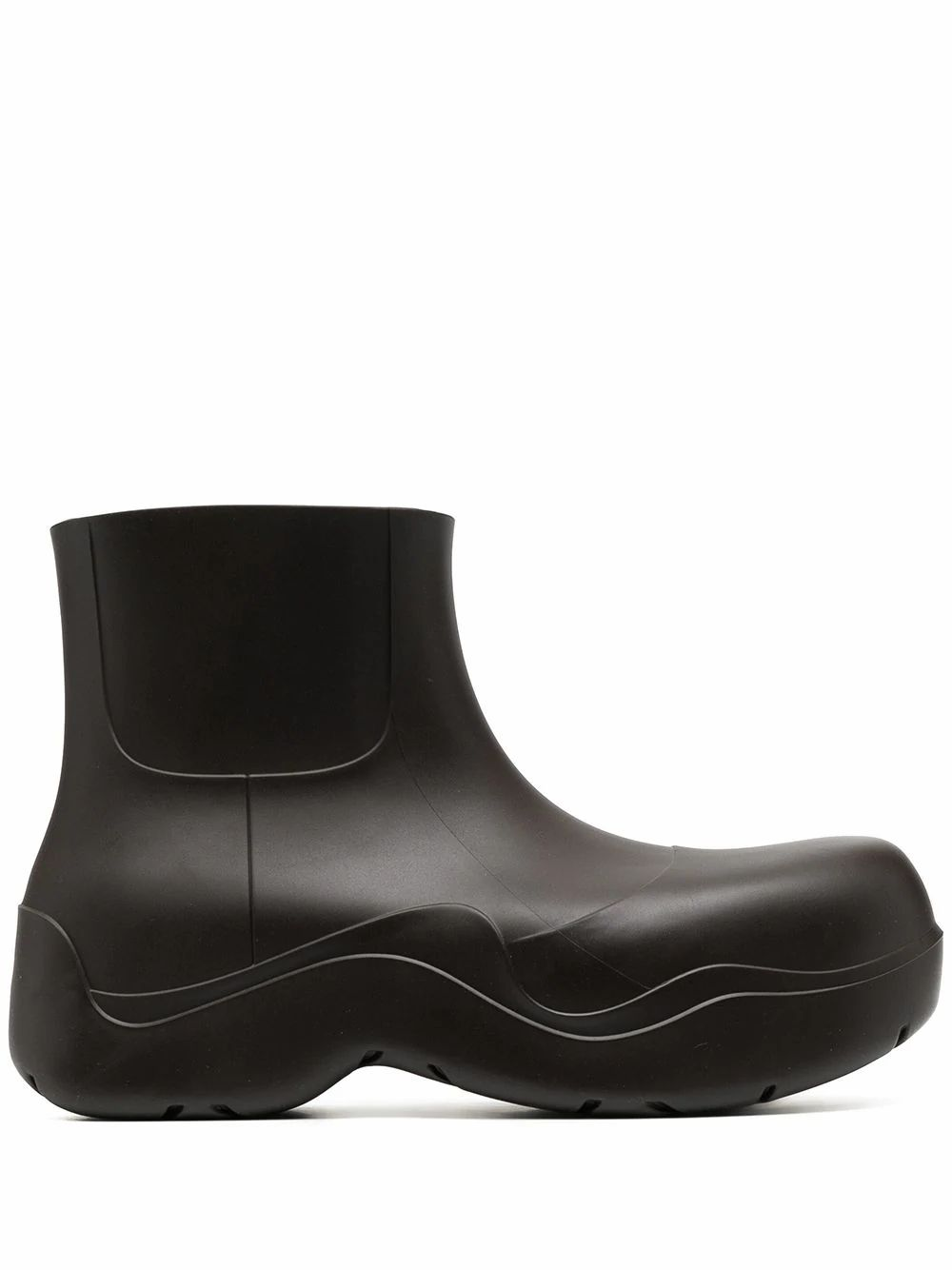 BOTTEGA VENETA BOTTEGA VENETA MEN'S BROWN RUBBER ANKLE BOOTS