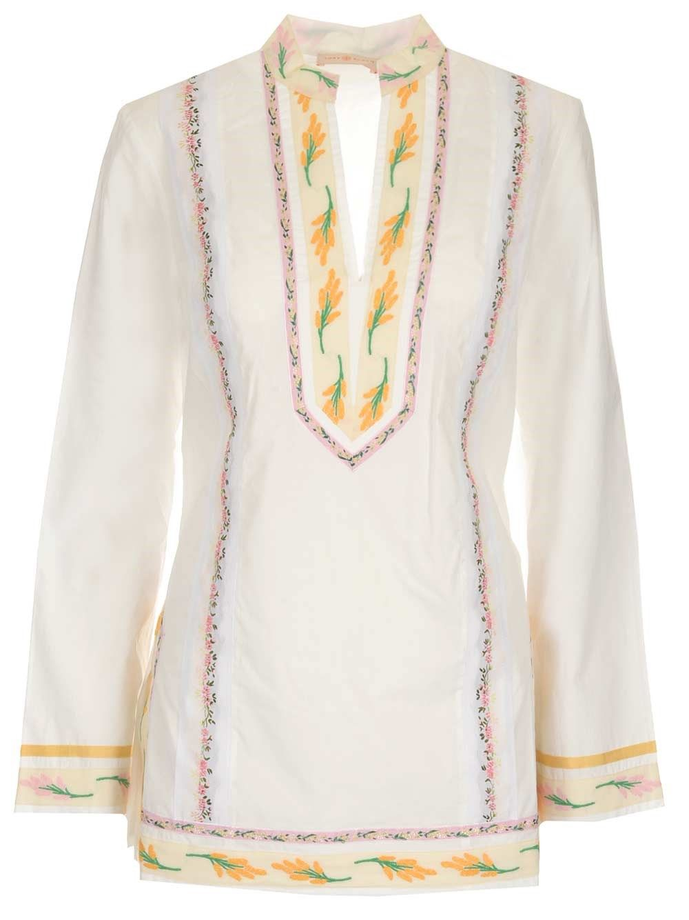 Tory Burch TORY BURCH WOMEN'S WHITE COTTON BLOUSE