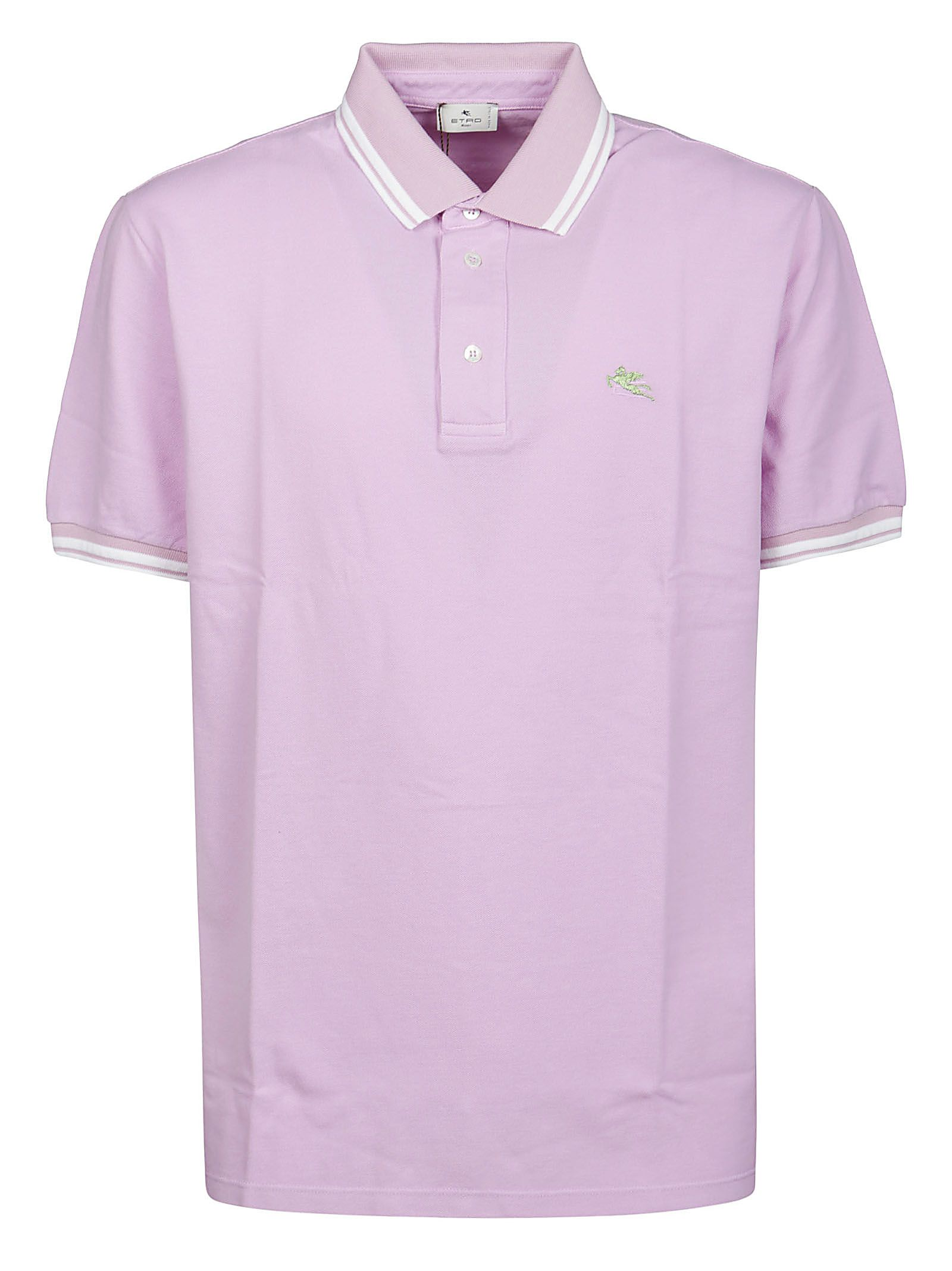 Etro Tops ETRO MEN'S PURPLE OTHER MATERIALS POLO SHIRT
