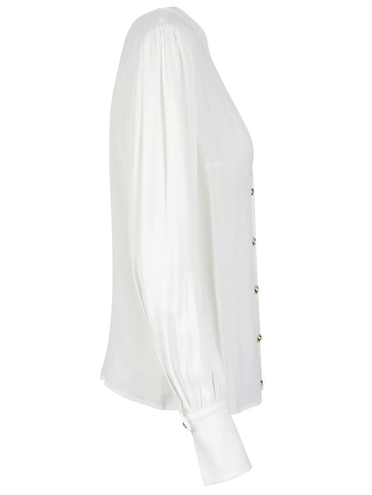ELISABETTA FRANCHI Shirts ELISABETTA FRANCHI WOMEN'S WHITE OTHER MATERIALS SHIRT