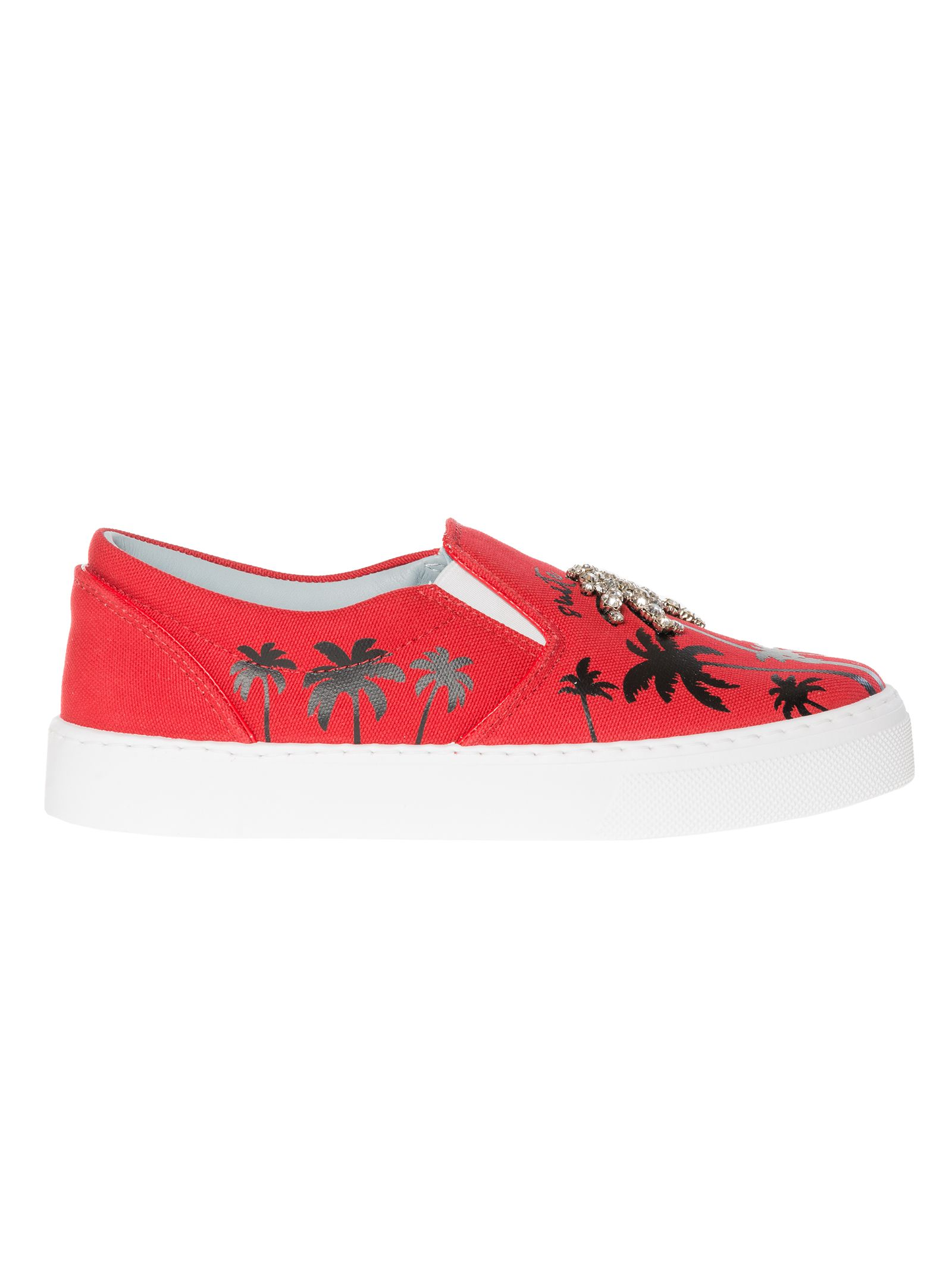 Chiara Ferragni Black/red Leather Sneakers