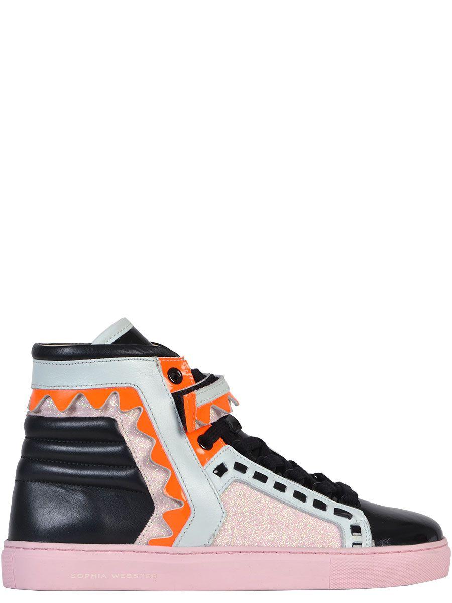 Sophia Webster Multicolor Leather Hi Top Sneakers