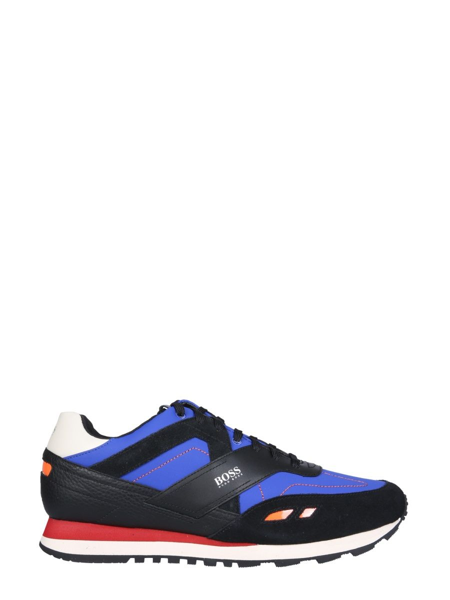 Hugo Boss HUGO BOSS MEN'S BLUE OTHER MATERIALS SNEAKERS