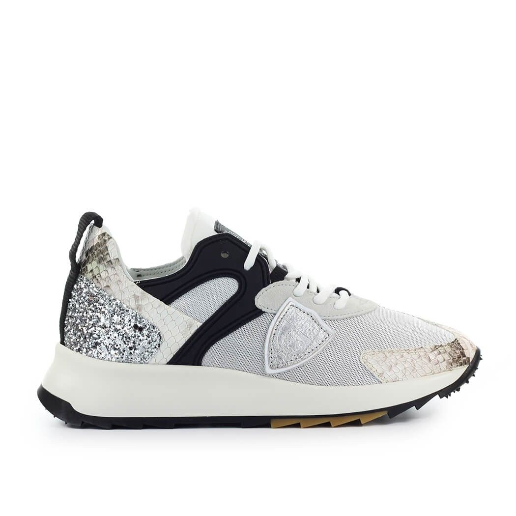 Philippe Model PHILIPPE MODEL WOMEN'S SILVER POLYAMIDE SNEAKERS