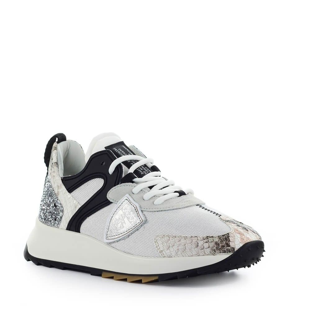 PHILIPPE MODEL Suedes PHILIPPE MODEL WOMEN'S SILVER POLYAMIDE SNEAKERS