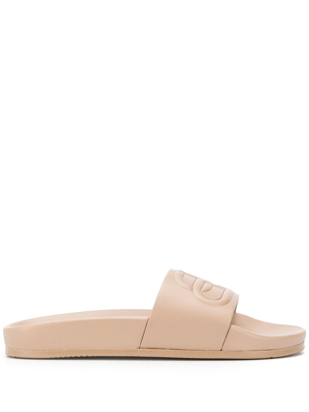 BALENCIAGA Leathers BALENCIAGA WOMEN'S BEIGE LEATHER SANDALS