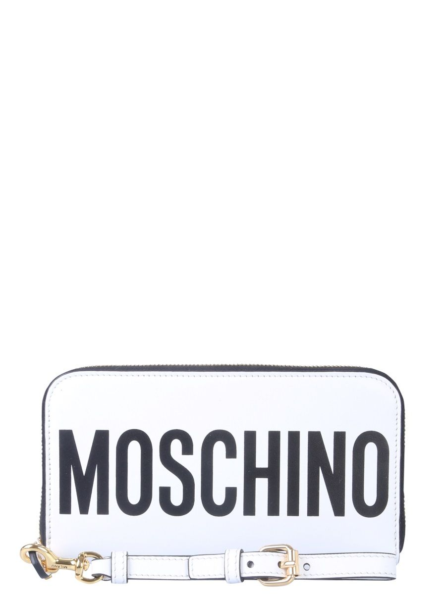 Moschino White Leather Wallet
