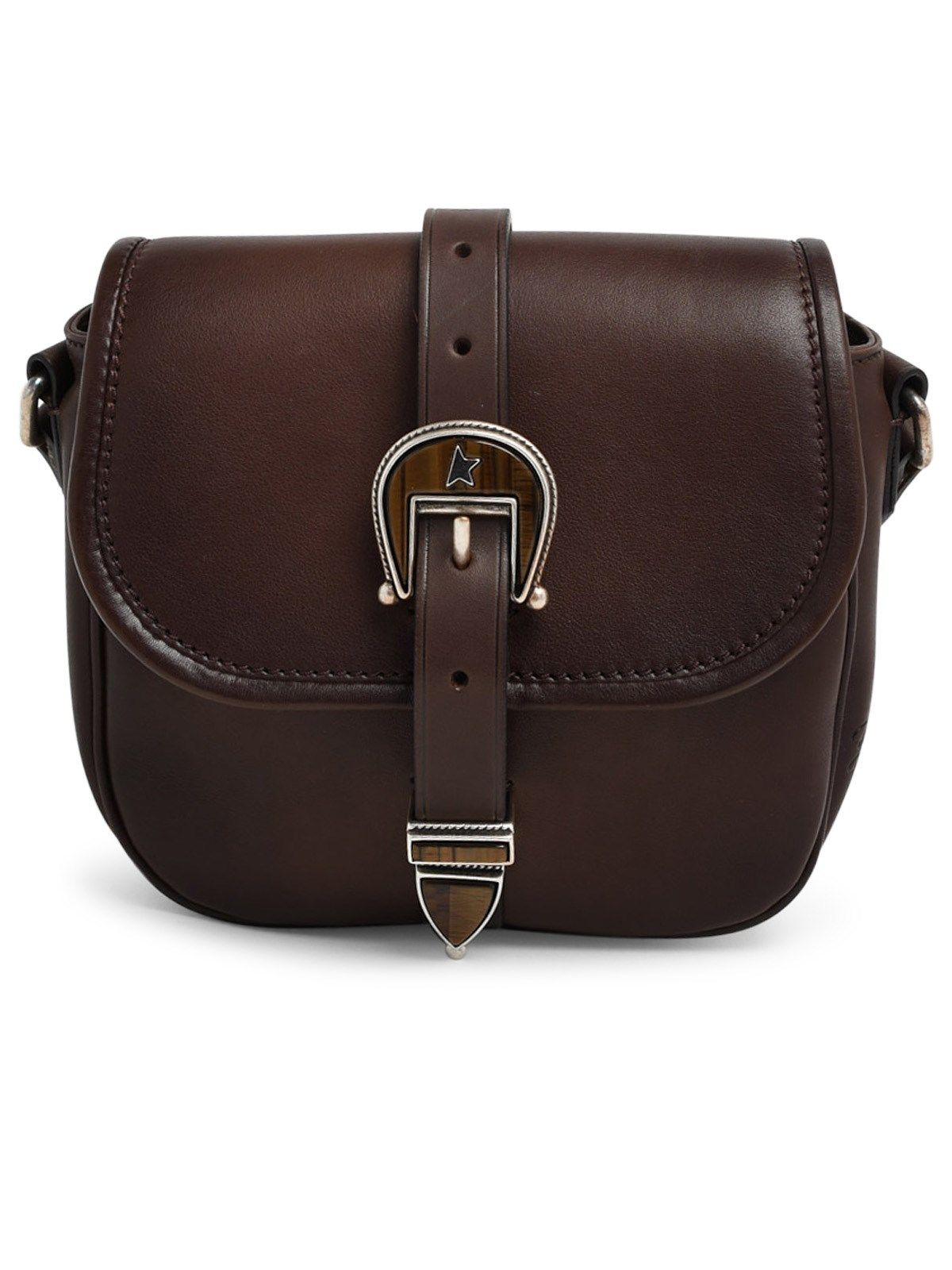 Golden Goose GOLDEN GOOSE WOMEN'S BROWN SHOULDER BAG