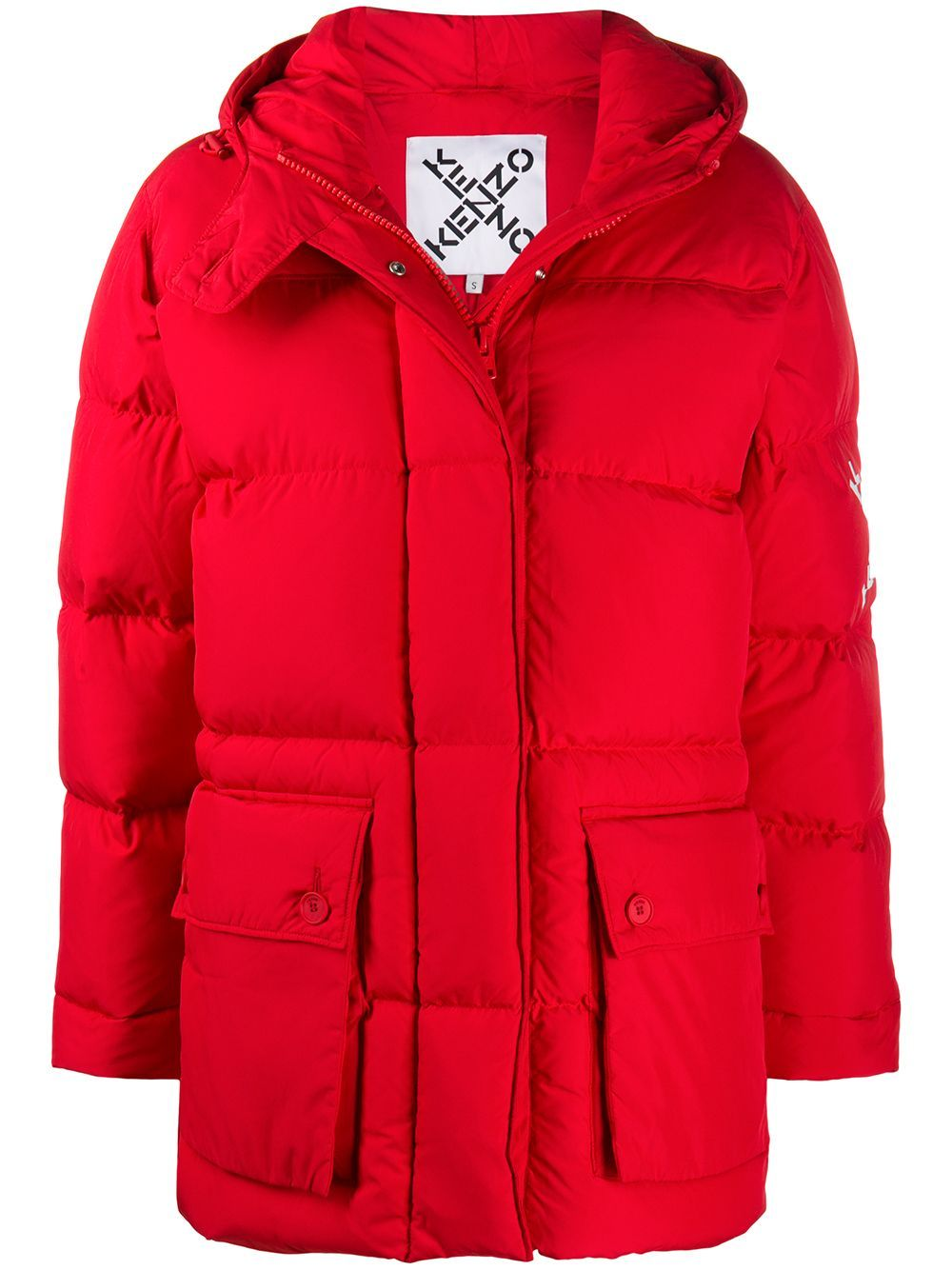 Kenzo Downs KENZO WOMEN'S RED POLYESTER DOWN JACKET