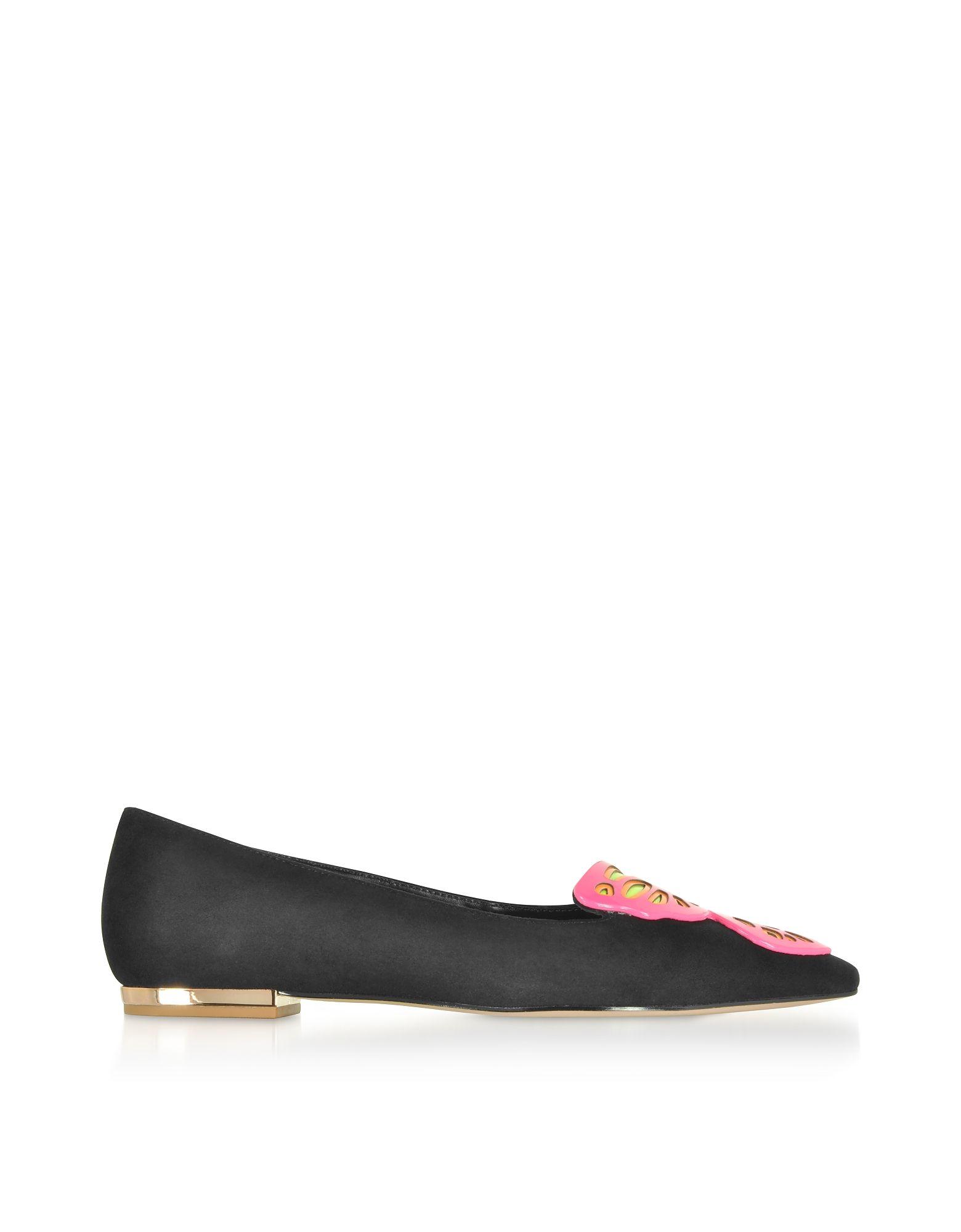 Sophia Webster Black Leather Flats