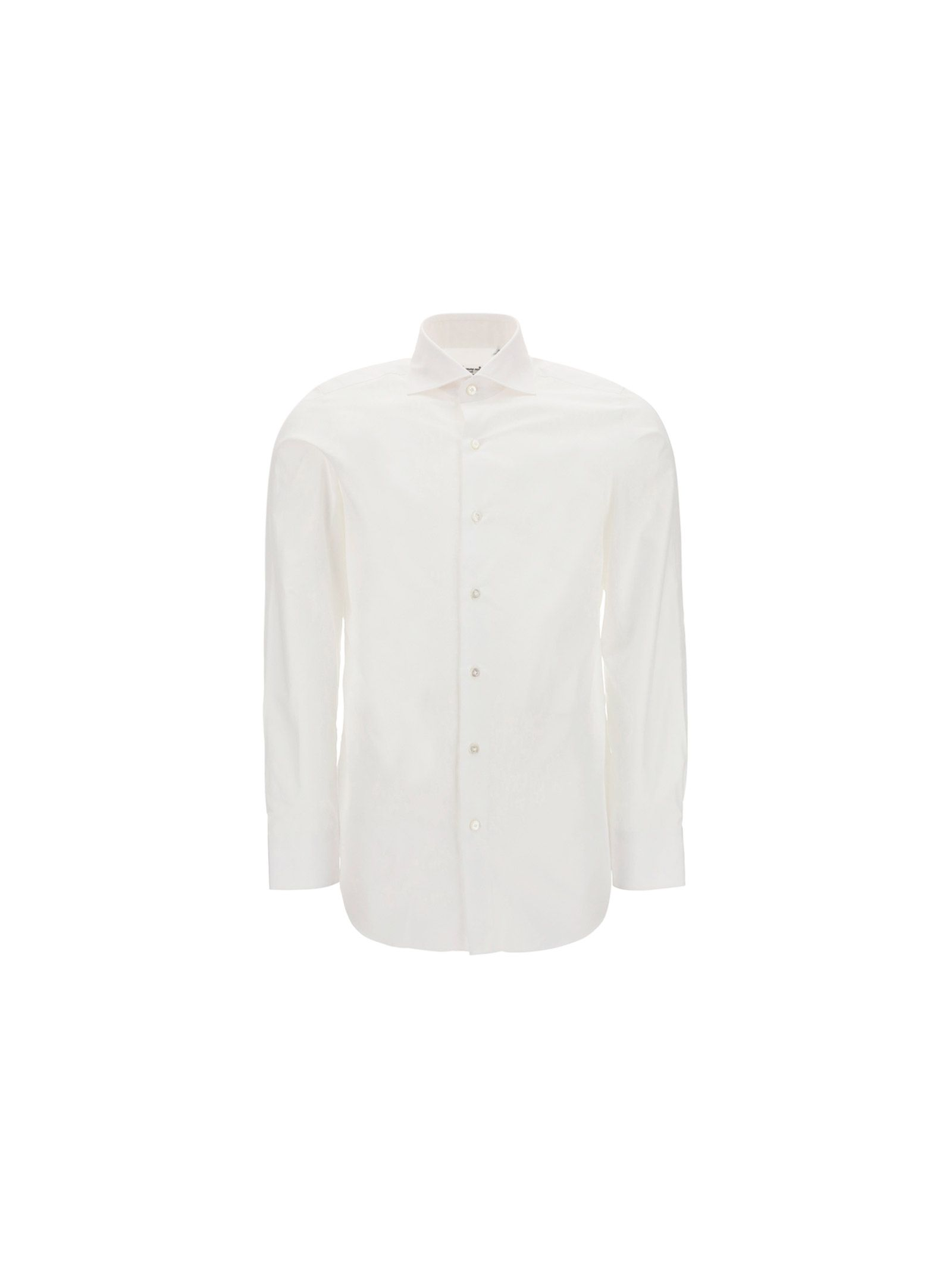 Finamore FINAMORE MEN'S WHITE OTHER MATERIALS SHIRT