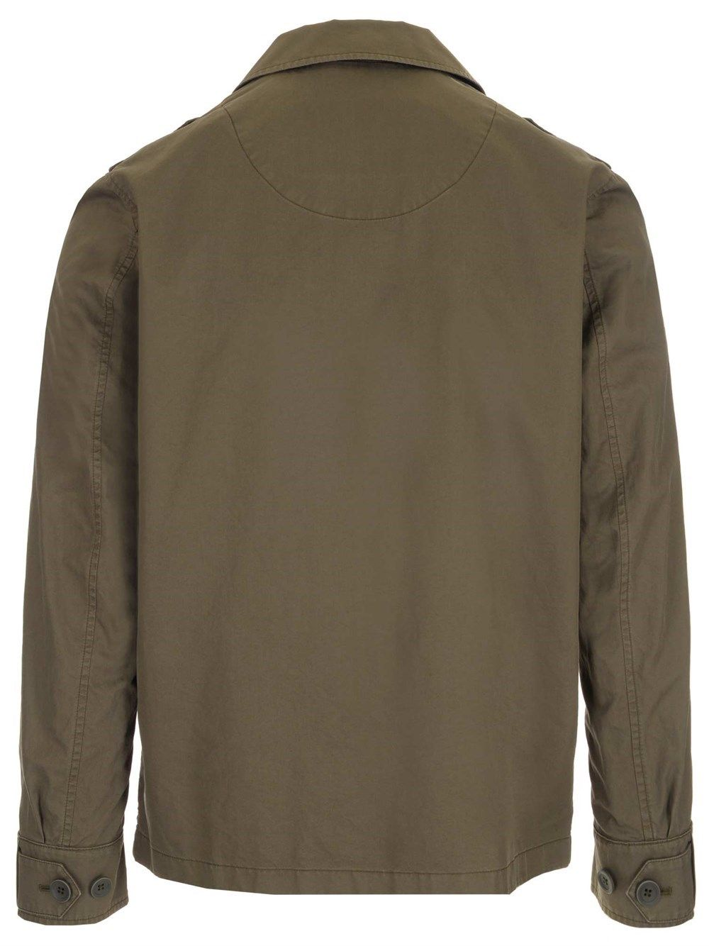 HERNO Cottons HERNO MEN'S GREEN OTHER MATERIALS OUTERWEAR JACKET