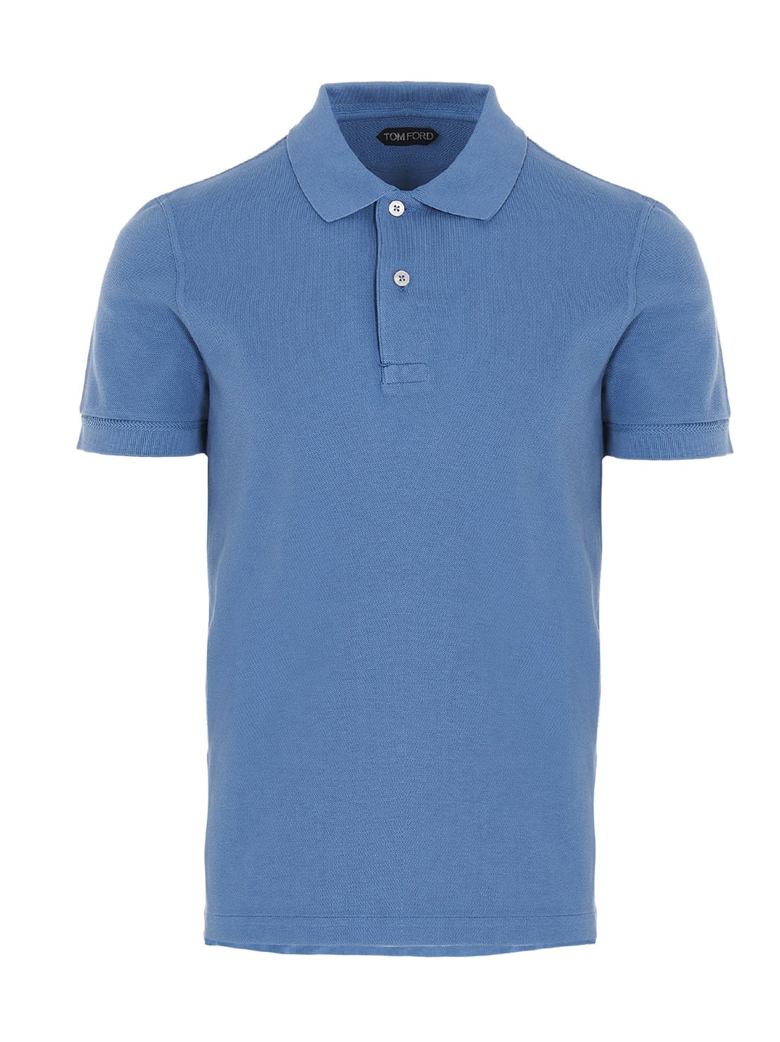 Tom Ford TOM FORD MEN'S LIGHT BLUE COTTON POLO SHIRT