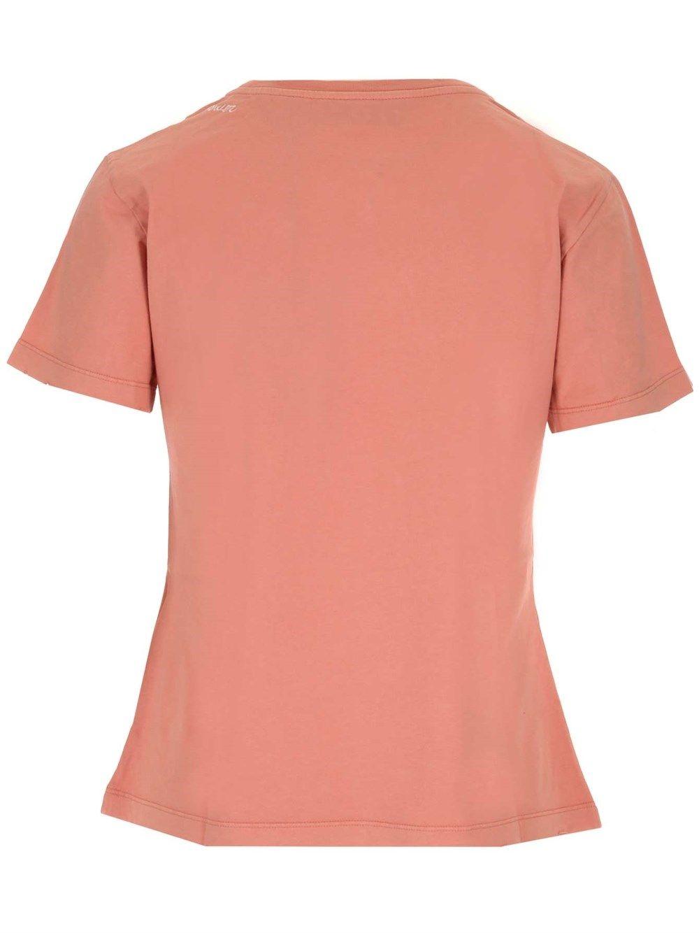 GOLDEN GOOSE T-shirts GOLDEN GOOSE WOMEN'S BEIGE OTHER MATERIALS T-SHIRT