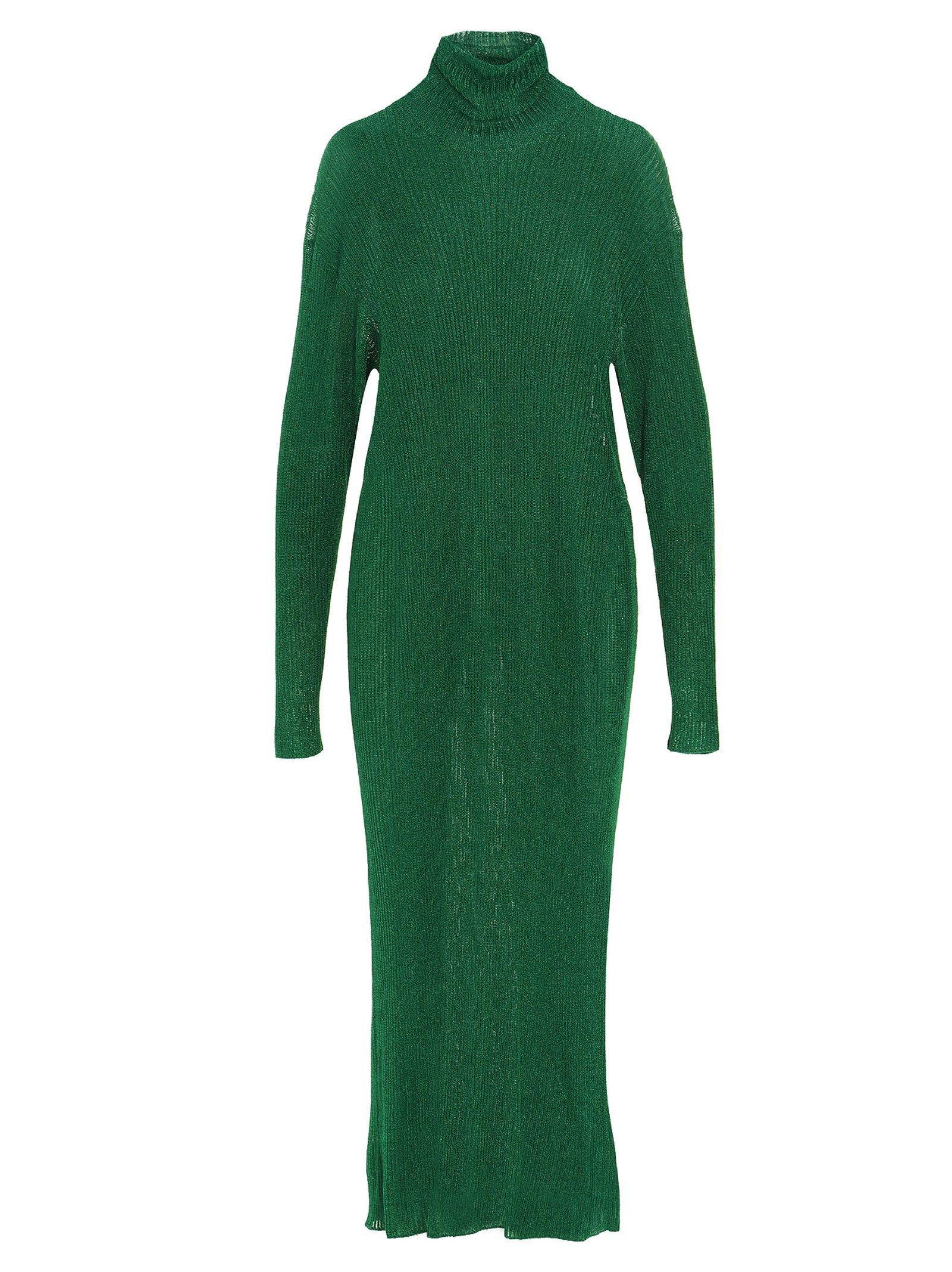 Balenciaga BALENCIAGA WOMEN'S GREEN OTHER MATERIALS DRESS