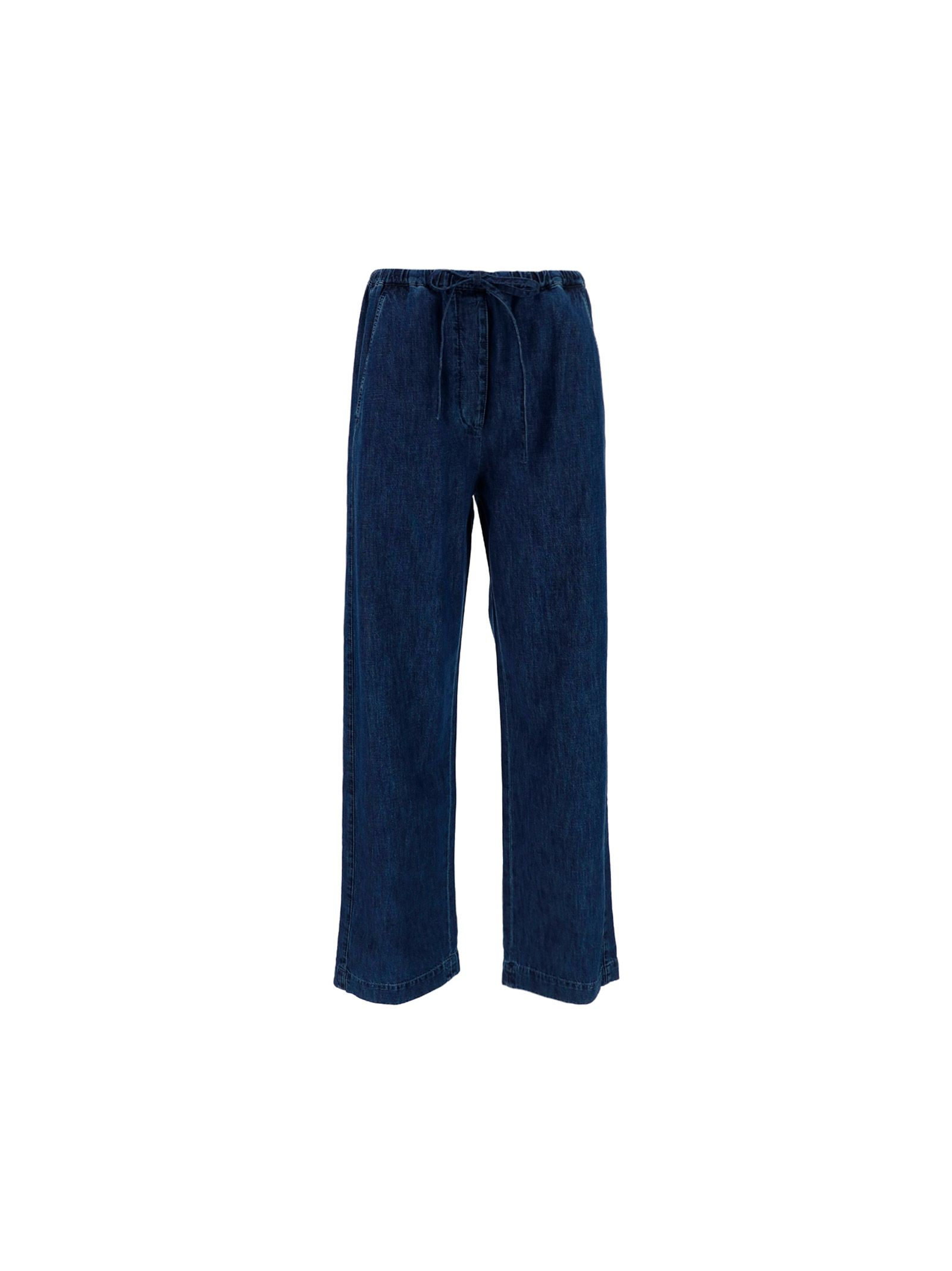 Valentino VALENTINO WOMEN'S BLUE OTHER MATERIALS PANTS