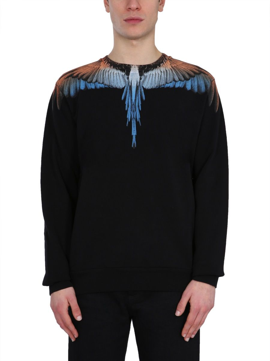 Marcelo Burlon County Of Milan MARCELO BURLON MEN'S BLACK OTHER MATERIALS SWEATSHIRT