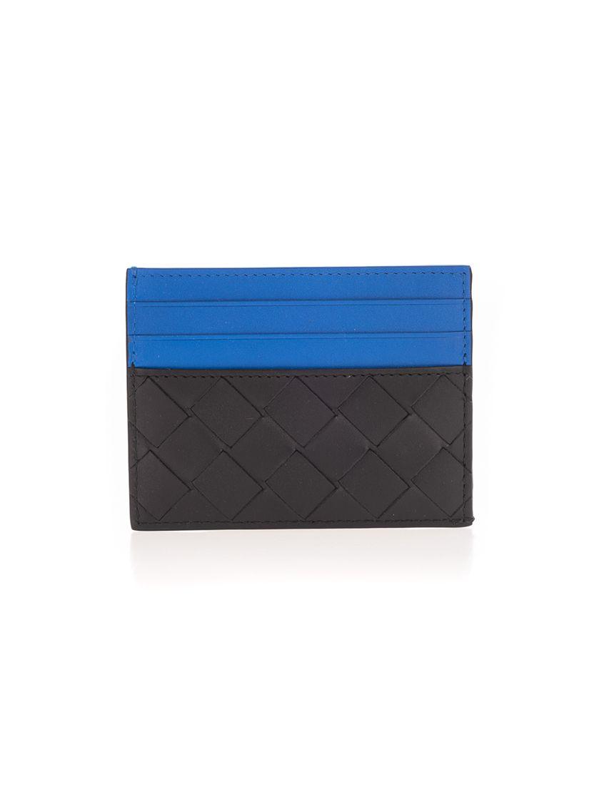 Bottega Veneta Men's Black Leather Card Holder