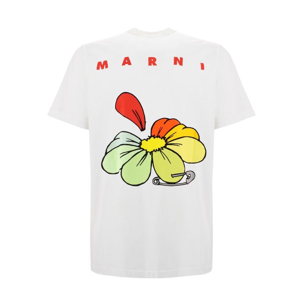 MARNI Cottons MARNI MEN'S WHITE COTTON T-SHIRT