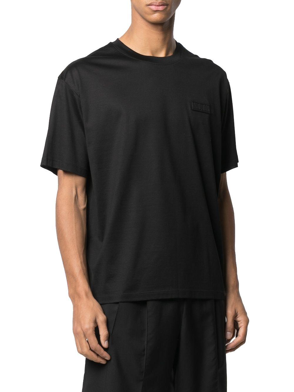 VALENTINO Cottons VALENTINO MEN'S BLACK COTTON T-SHIRT