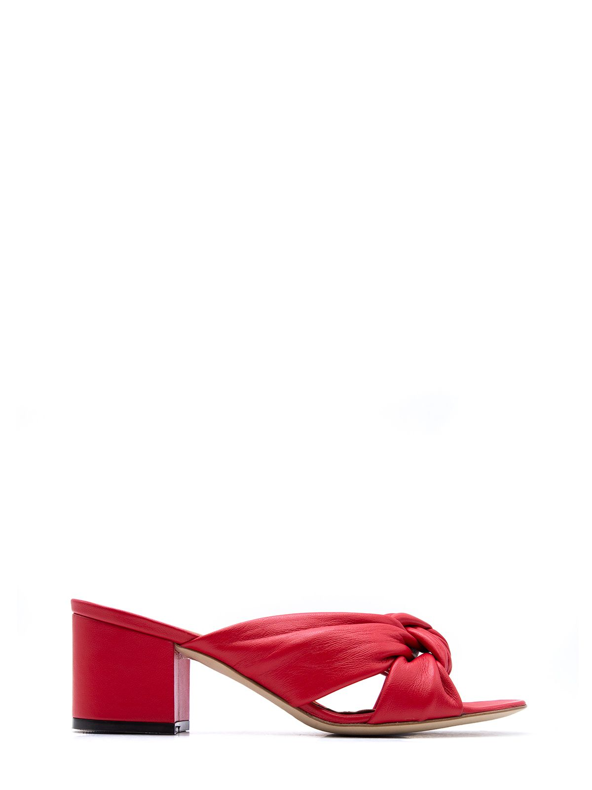Via Roma 15 RED LEATHER SANDALS