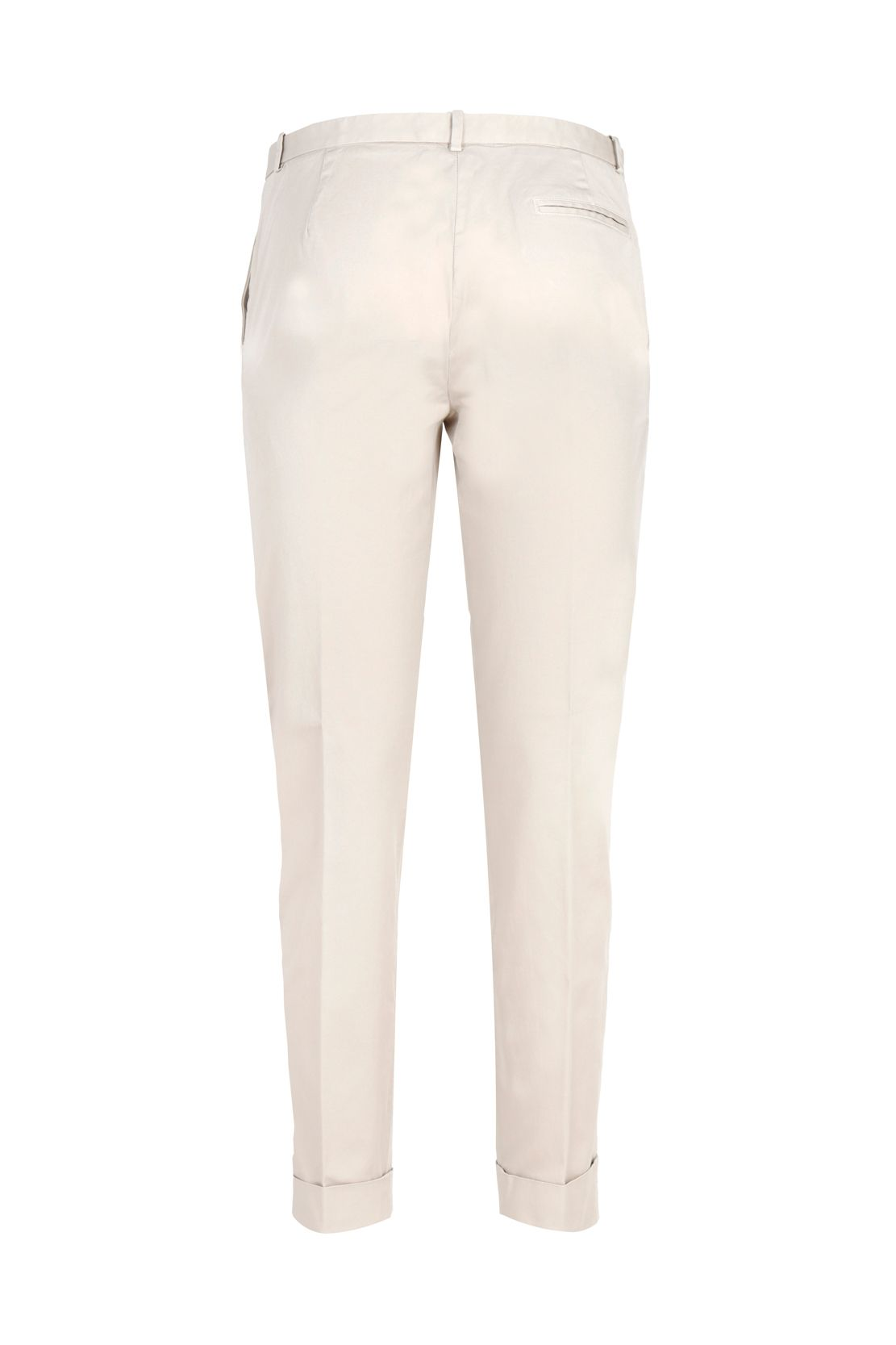 FABIANA FILIPPI Cottons FABIANA FILIPPI WOMEN'S BEIGE COTTON PANTS