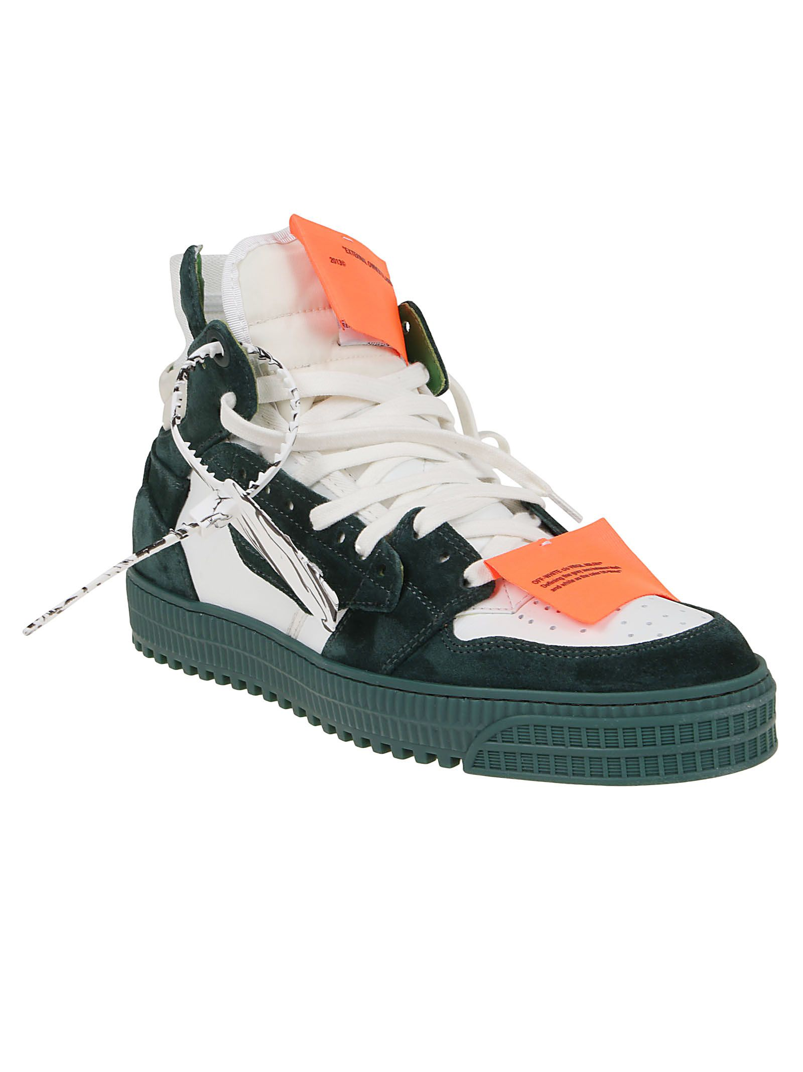 OFF-WHITE Suedes OFF-WHITE MEN'S WHITE SUEDE HI TOP SNEAKERS