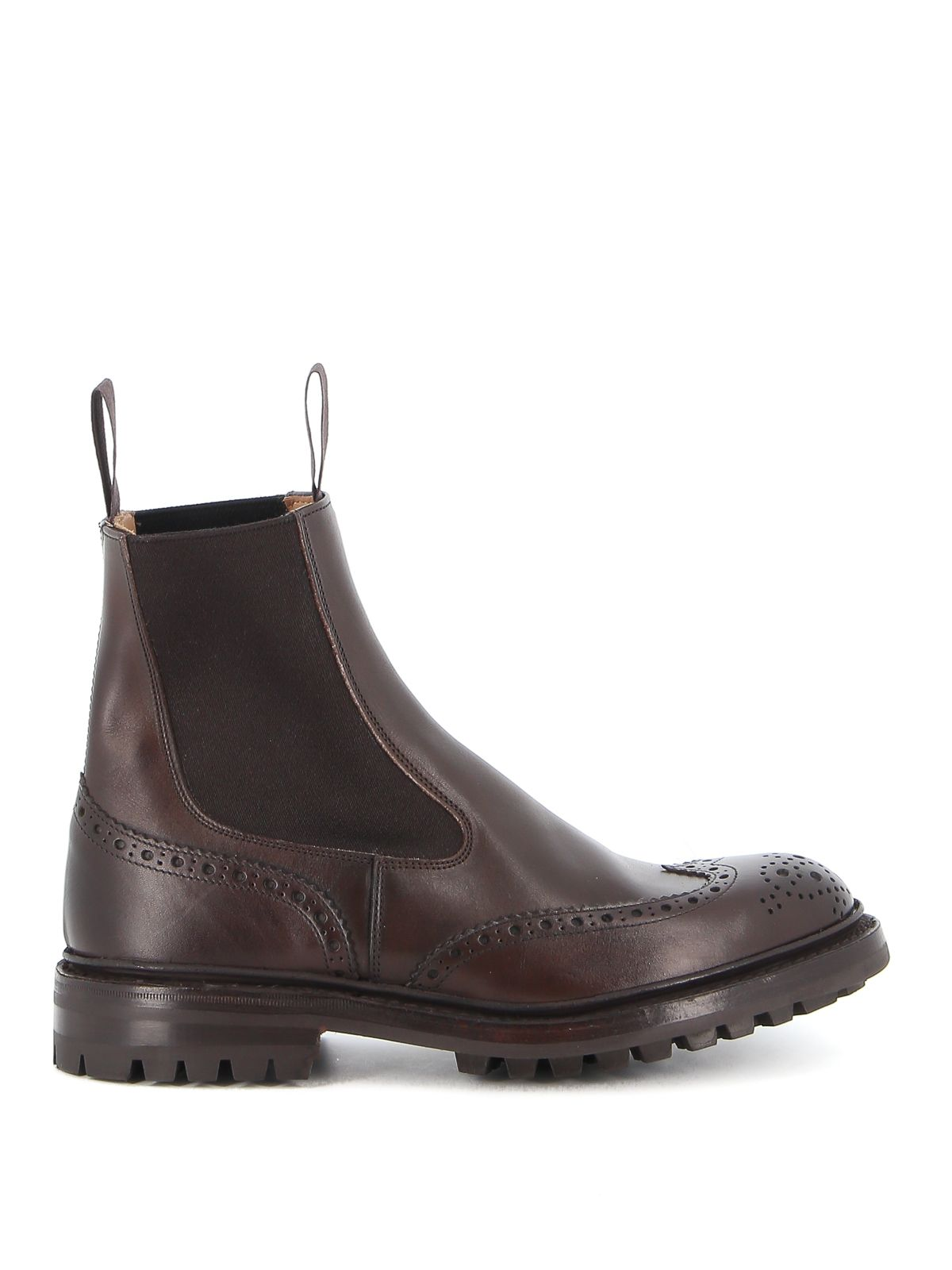 Tricker's TRICKER'S MEN'S BROWN LEATHER ANKLE BOOTS