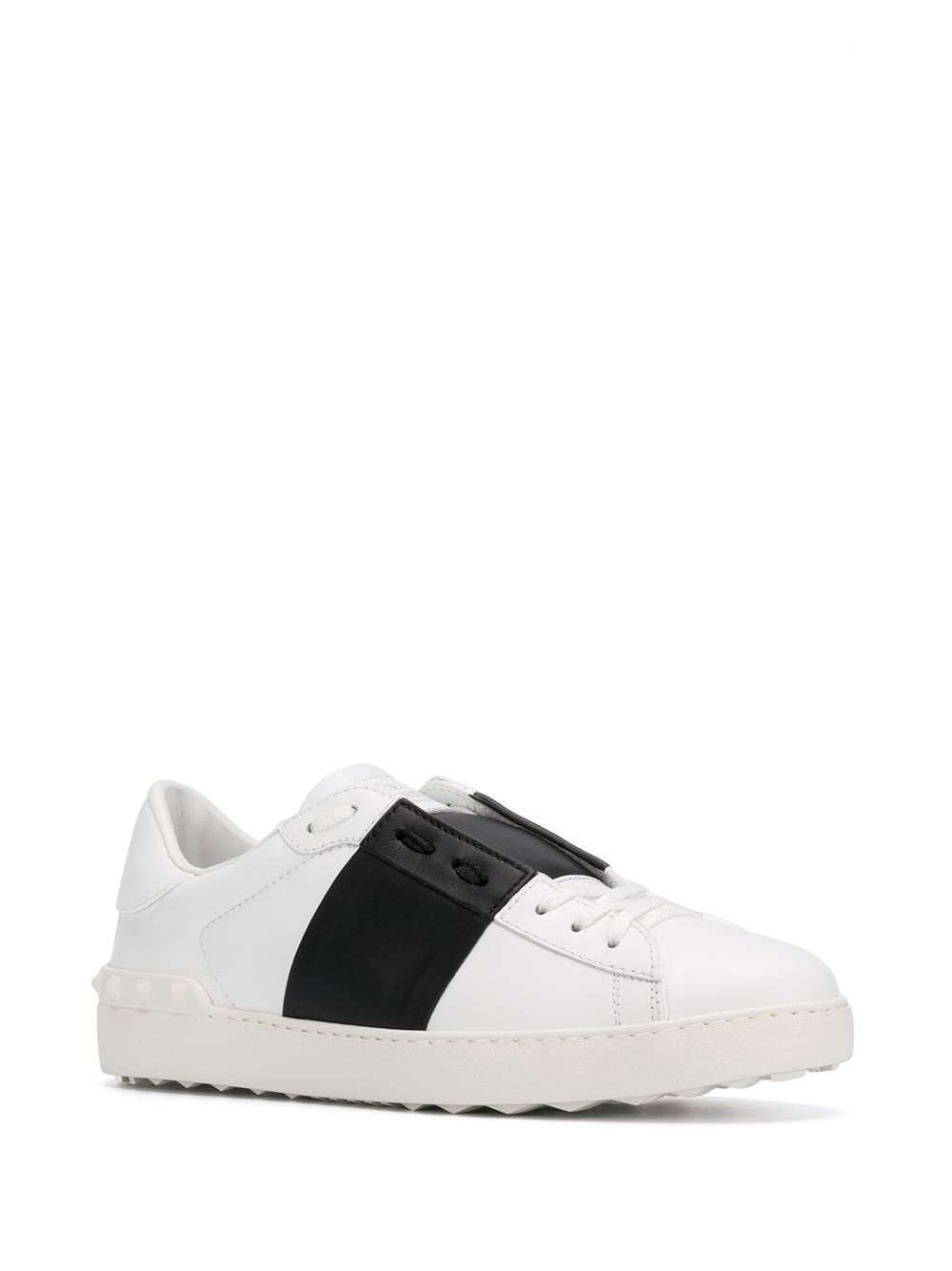 VALENTINO Leathers VALENTINO GARAVANI MEN'S WHITE LEATHER SNEAKERS