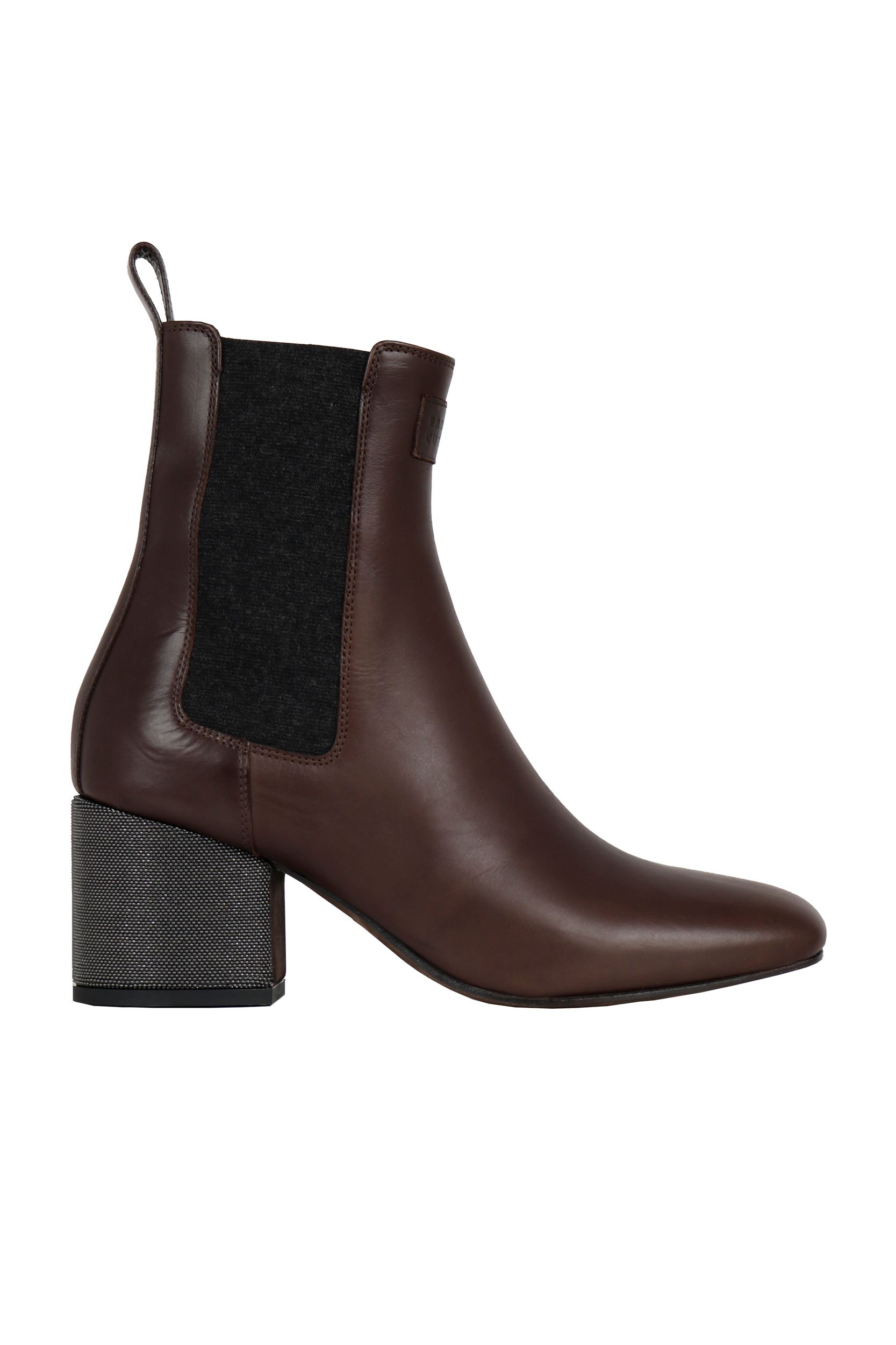 Brunello Cucinelli BRUNELLO CUCINELLI WOMEN'S BROWN LEATHER ANKLE BOOTS