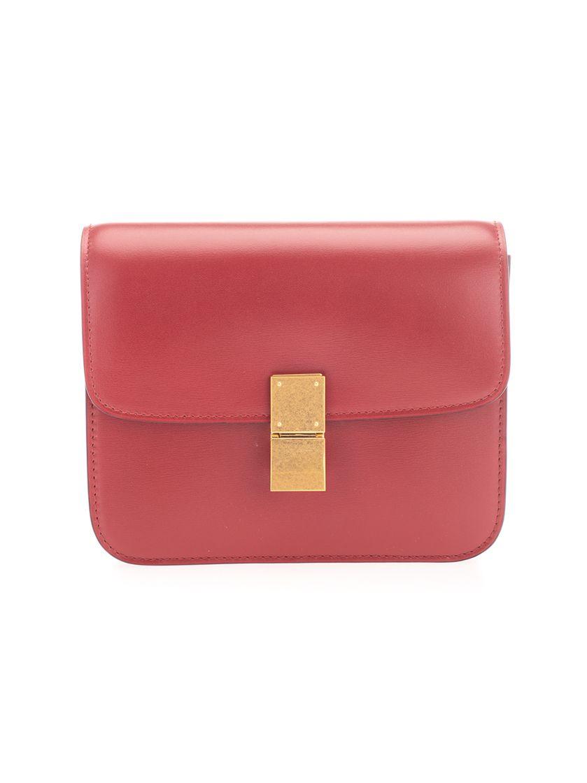 Celine CÉLINE WOMEN'S RED LEATHER SHOULDER BAG
