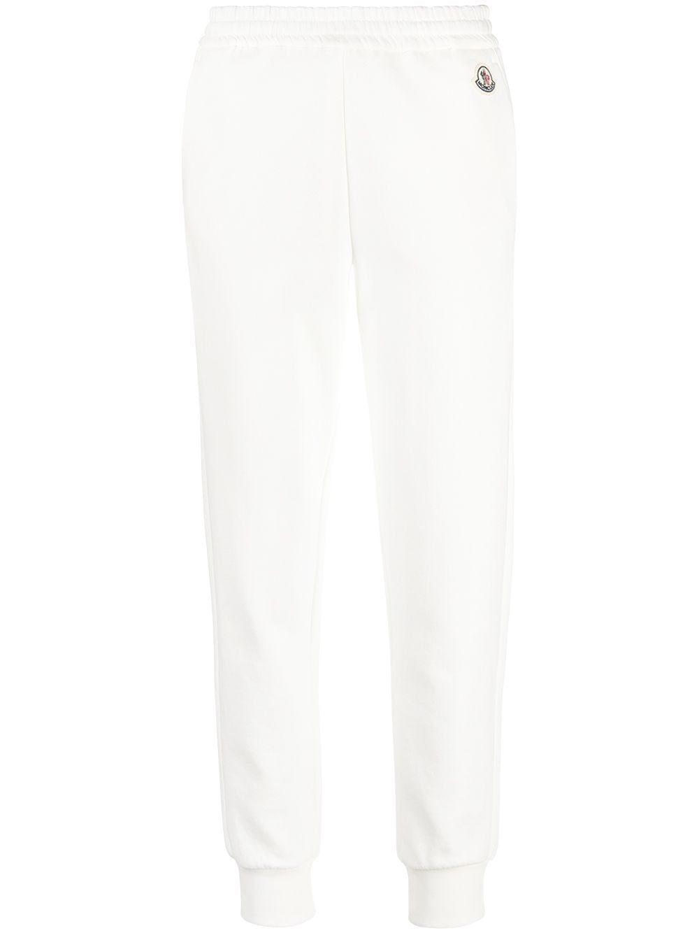 Moncler MONCLER WOMEN'S WHITE COTTON JOGGERS