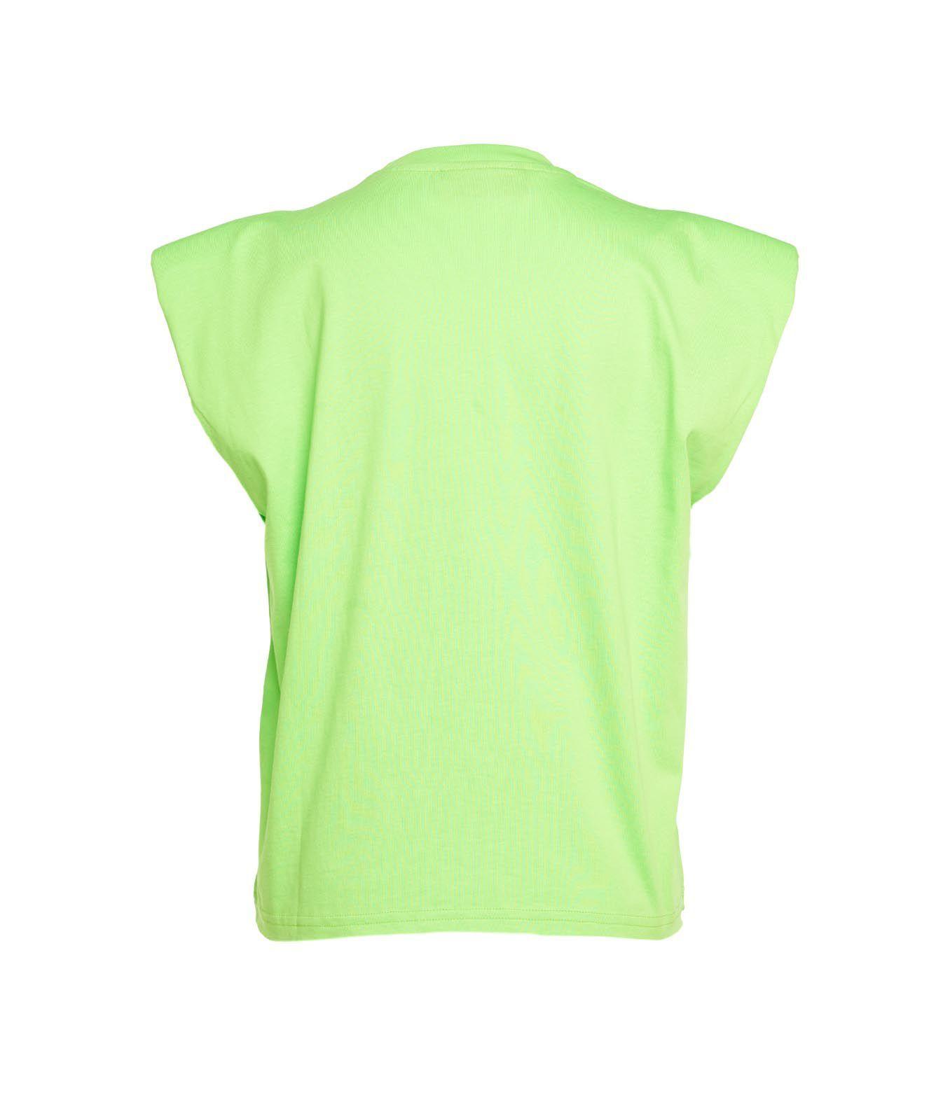 CHIARA FERRAGNI T-shirts CHIARA FERRAGNI WOMEN'S GREEN OTHER MATERIALS T-SHIRT