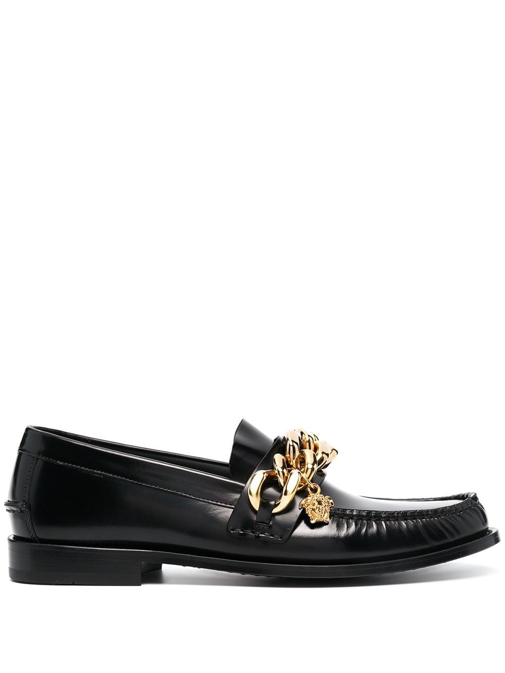 Versace VERSACE MEN'S BLACK LEATHER LOAFERS