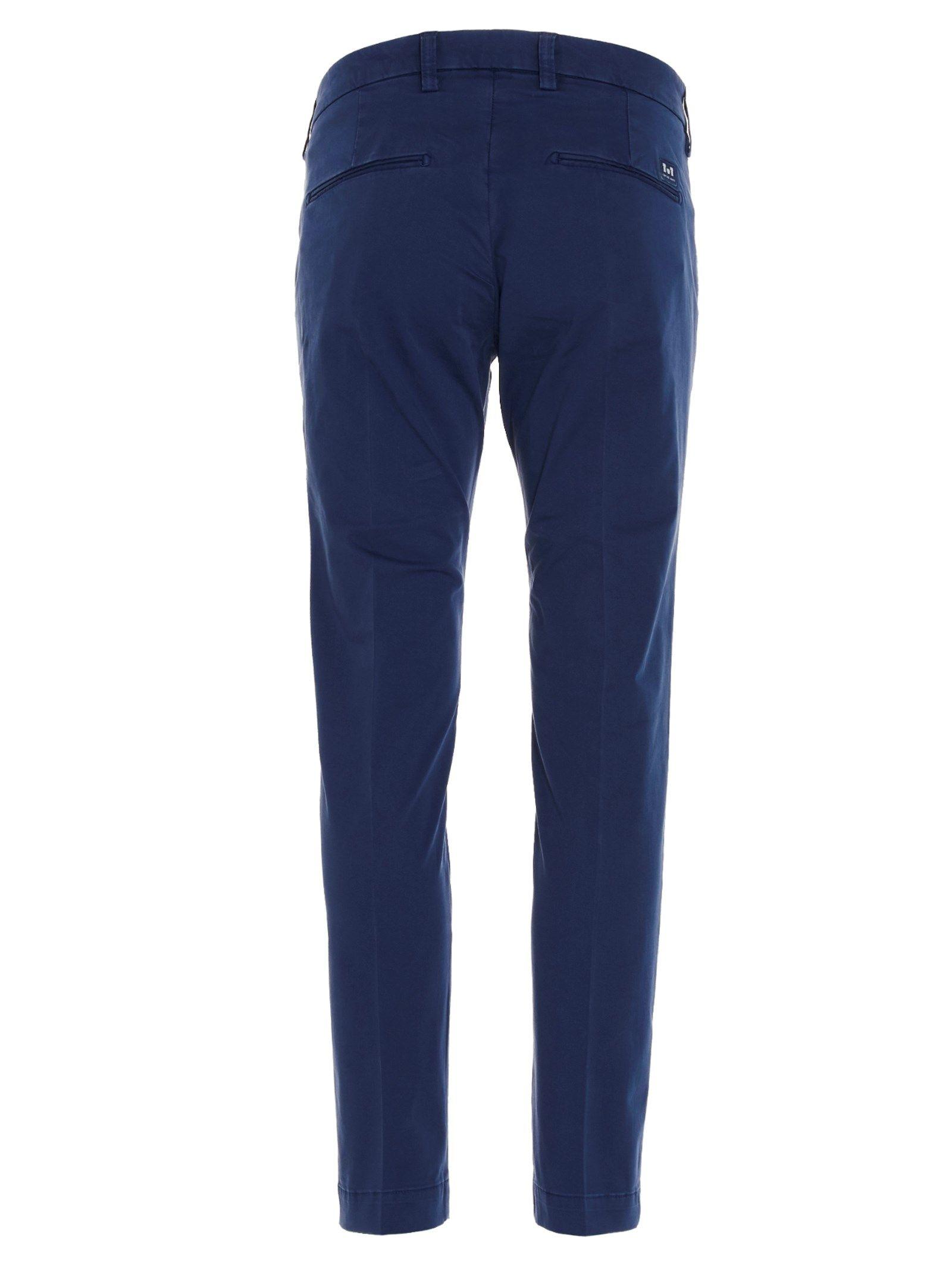 ENTRE AMIS Cottons ENTRE AMIS MEN'S BLUE COTTON PANTS