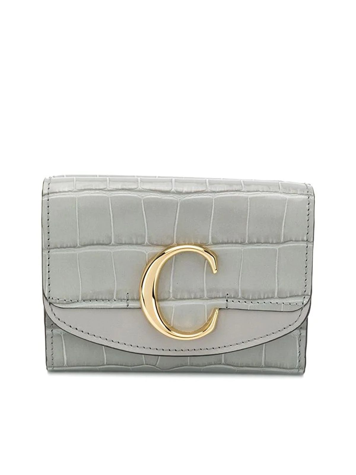 Chloé CHLOÉ WOMEN'S GREY LEATHER WALLET