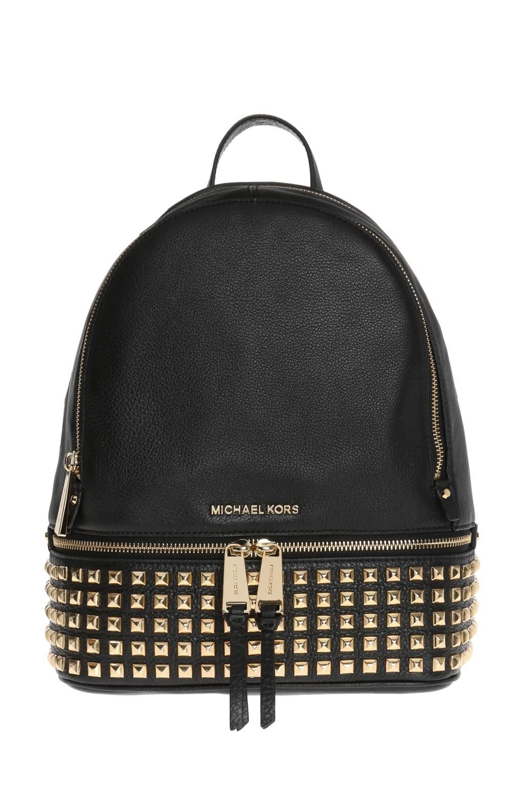 7189180bc2 Michael Michael Kors Women's 30S5Gezb5L001 Black Leather Backpack ...