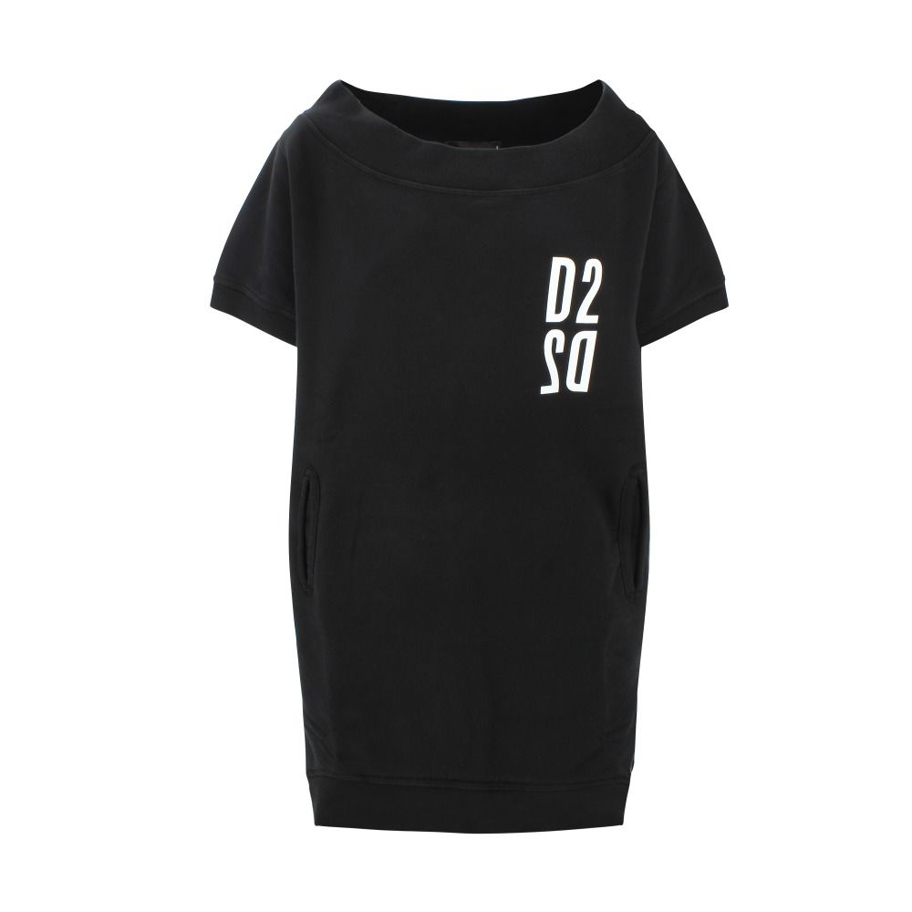 Dsquared2 DSQUARED2 WOMEN'S BLACK COTTON DRESS
