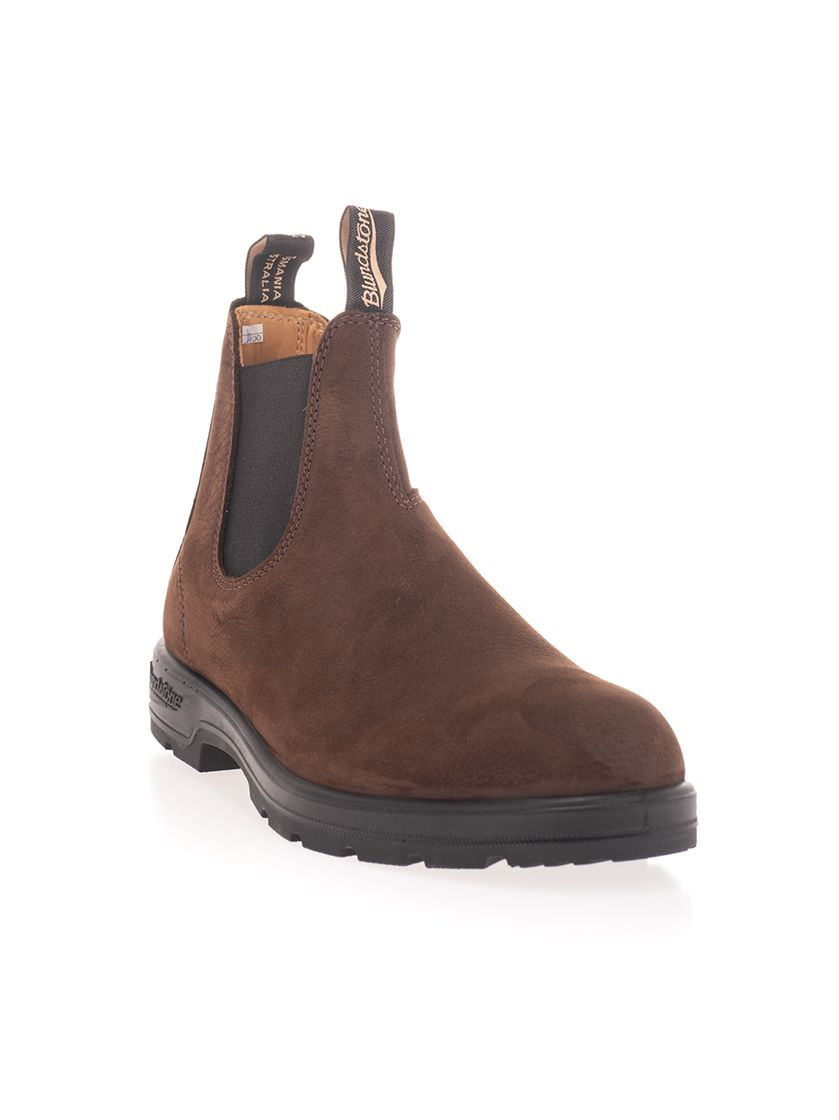 BLUNDSTONE Ankle highs BLUNDSTONE MEN'S BROWN ANKLE BOOTS