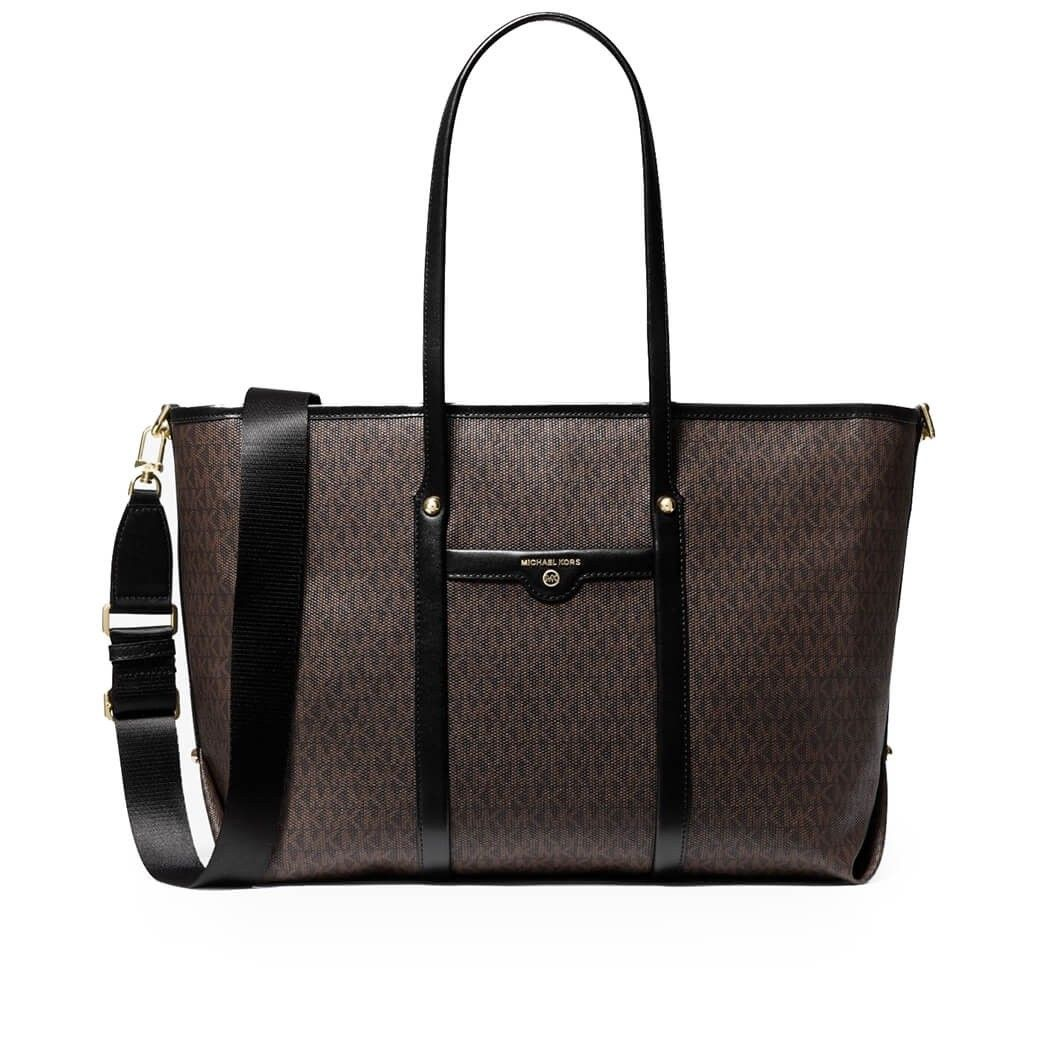 Michael Kors MICHAEL KORS WOMEN'S BROWN LEATHER TOTE