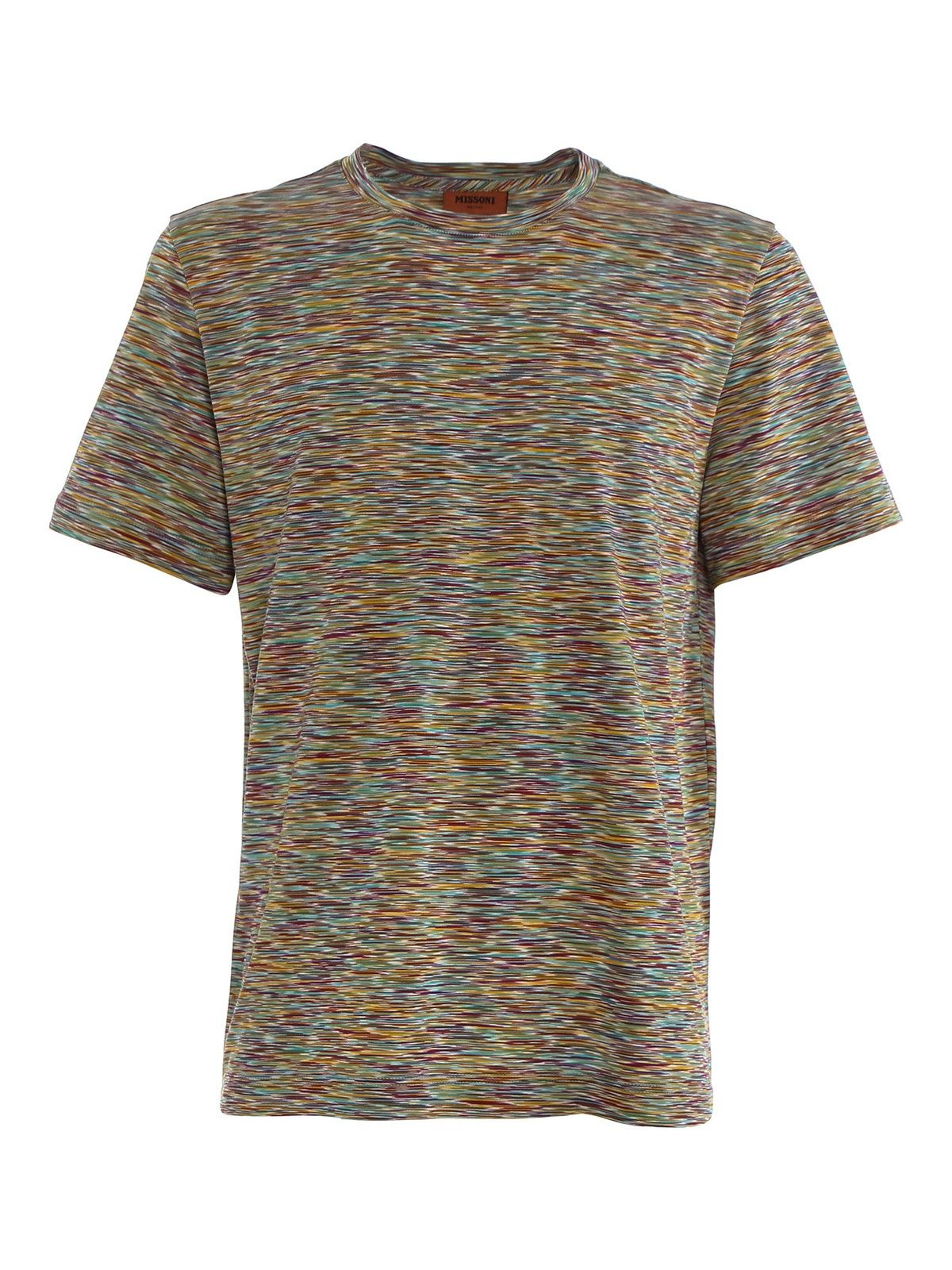 Missoni T-shirts MISSONI MEN'S MULTICOLOR COTTON T-SHIRT