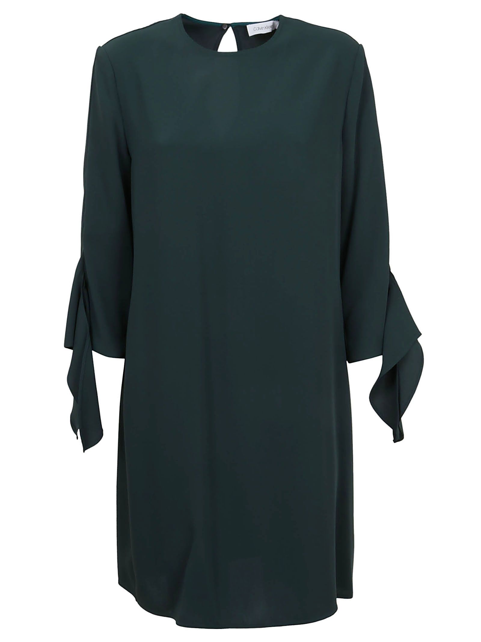 Calvin Klein Green Cotton Dress