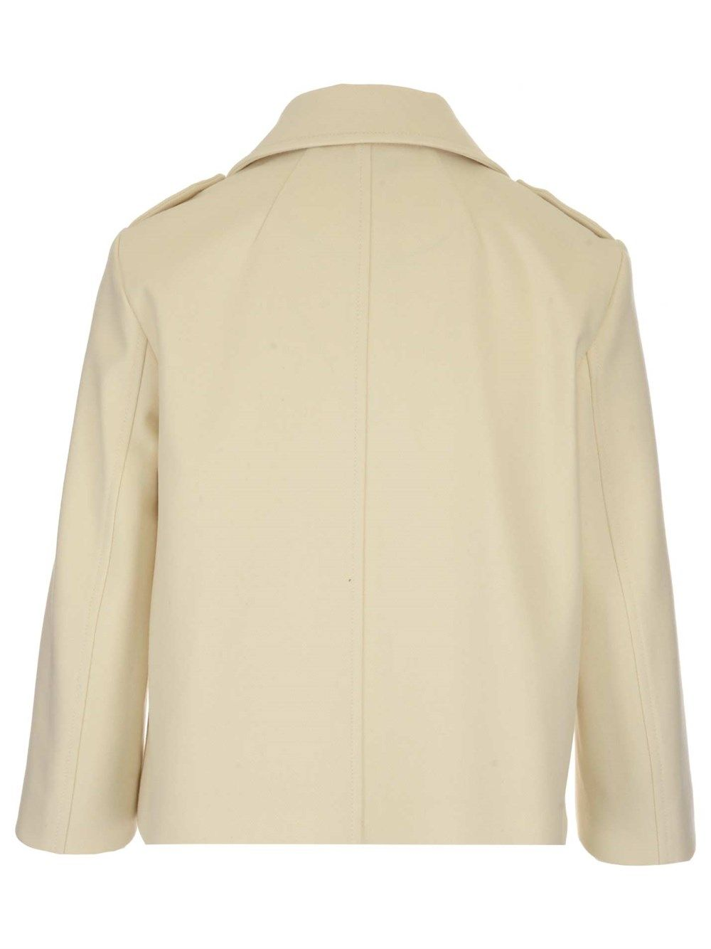 RED VALENTINO Coats RED VALENTINO WOMEN'S BEIGE OTHER MATERIALS COAT