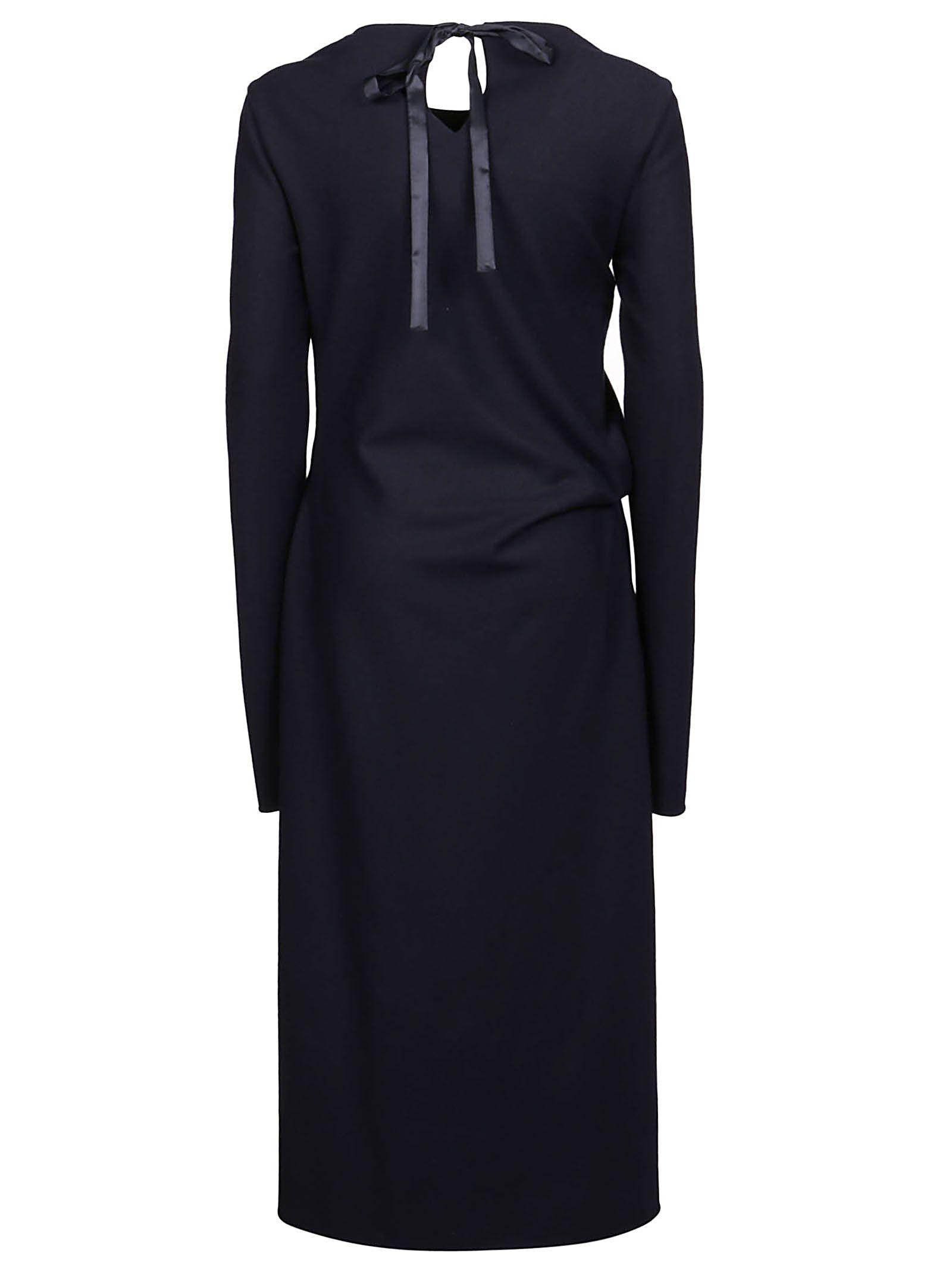 JIL SANDER Cottons JIL SANDER WOMEN'S BLUE OTHER MATERIALS DRESS