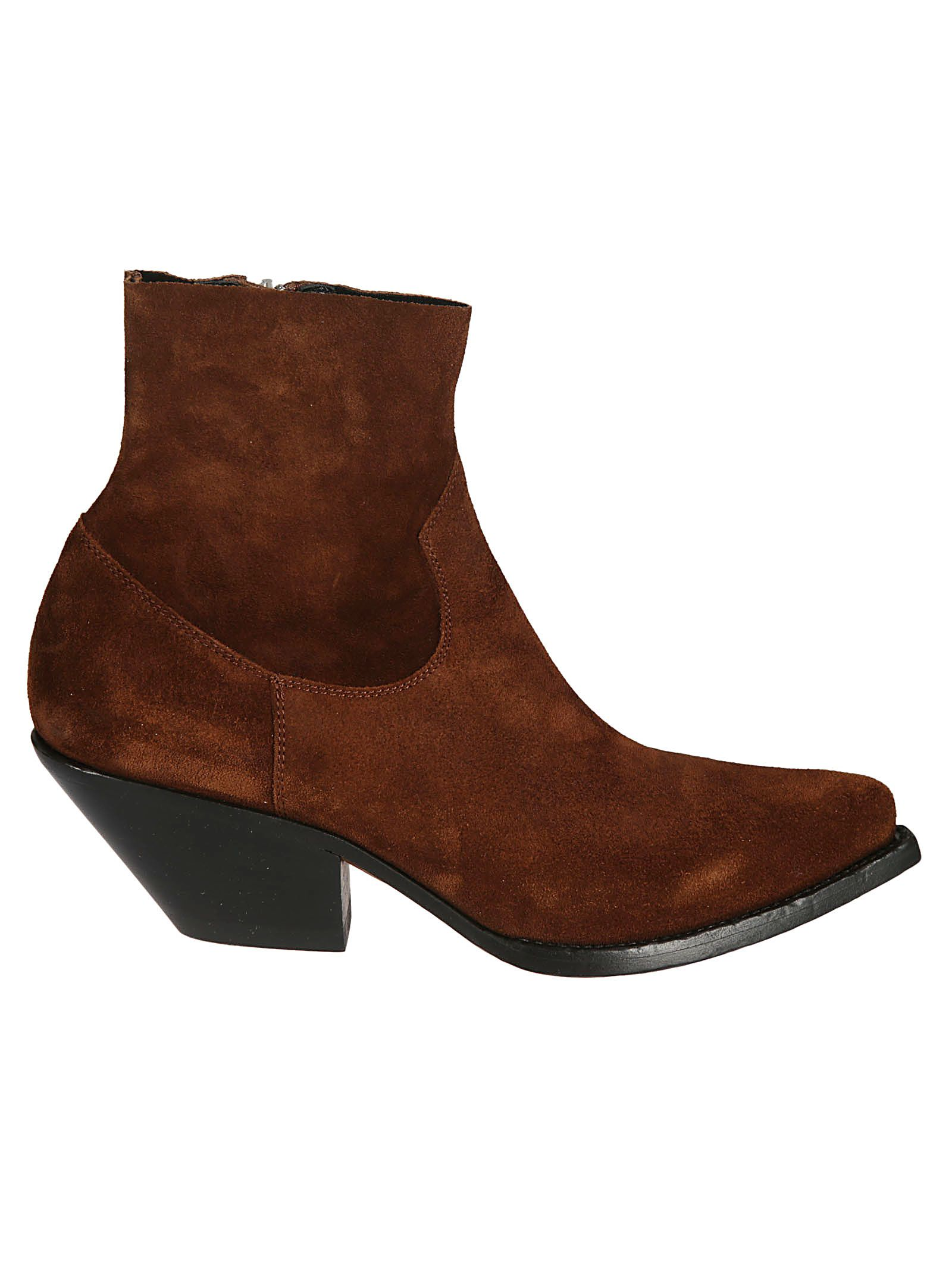 Buttero WOMEN'S B8108VARCDC27 BROWN SUEDE ANKLE BOOTS