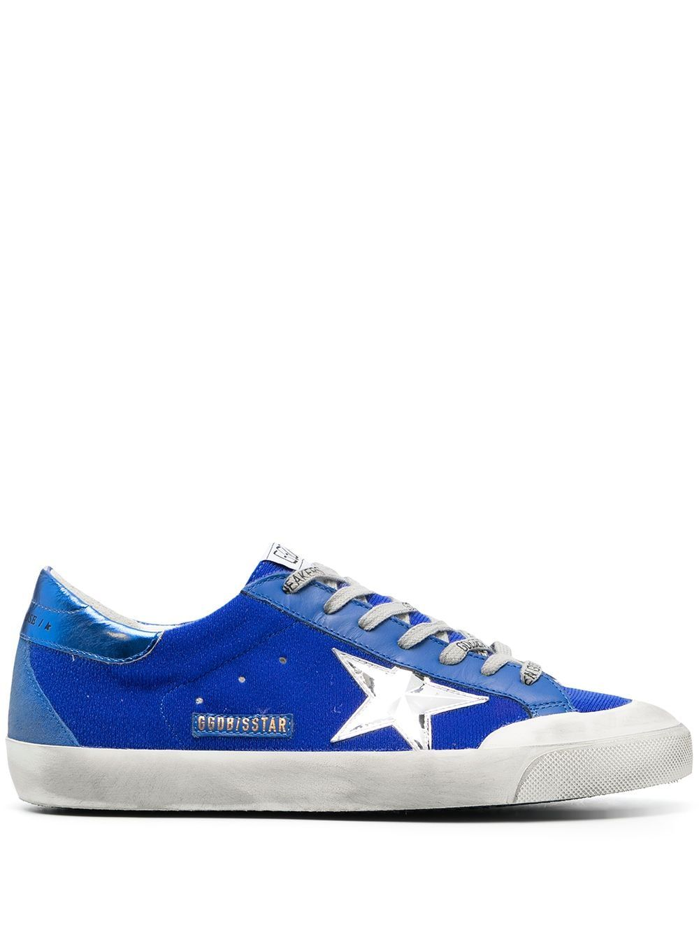 Golden Goose GOLDEN GOOSE MEN'S BLUE LEATHER SNEAKERS