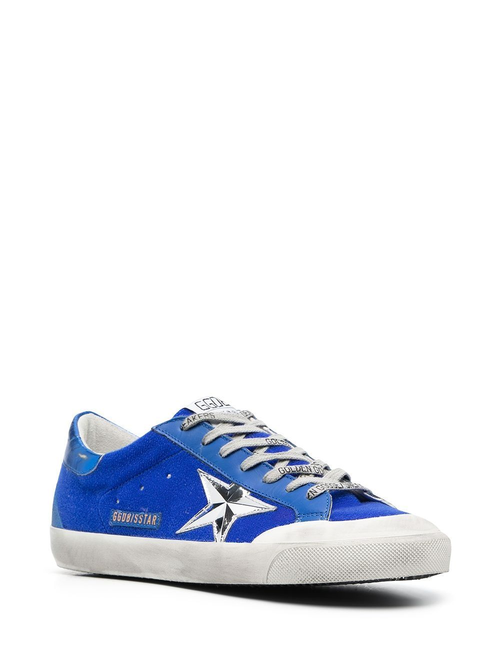 GOLDEN GOOSE Leathers GOLDEN GOOSE MEN'S BLUE LEATHER SNEAKERS