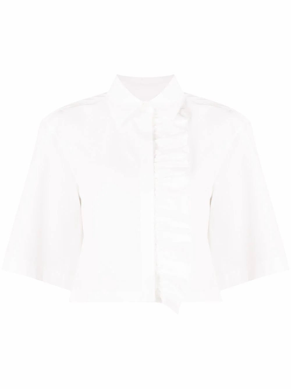 Msgm MSGM WOMEN'S WHITE COTTON BLOUSE