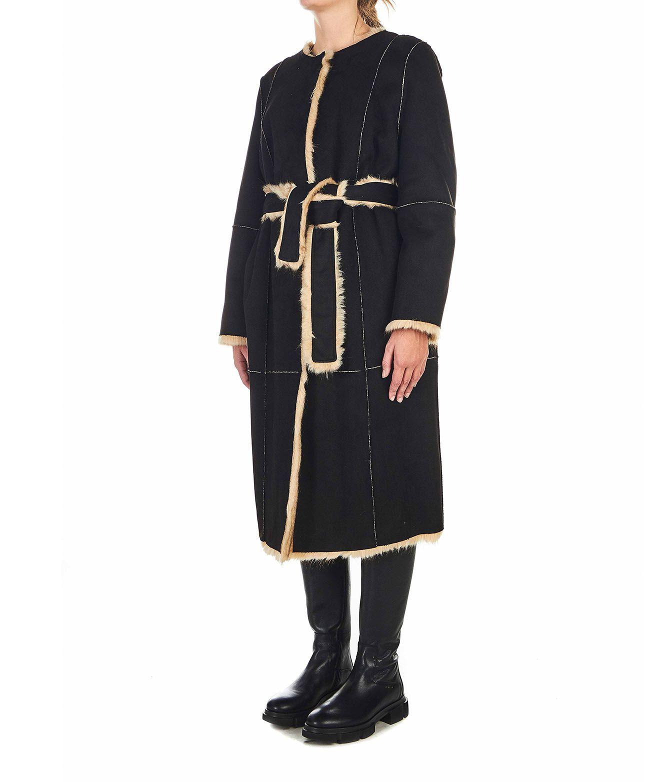 STAND STUDIO Coats STAND WOMEN'S BLACK COAT